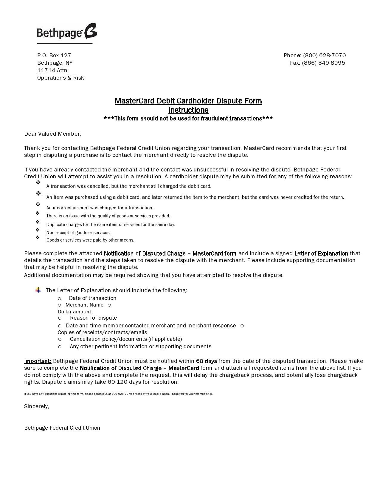 Free credit dispute letter 37