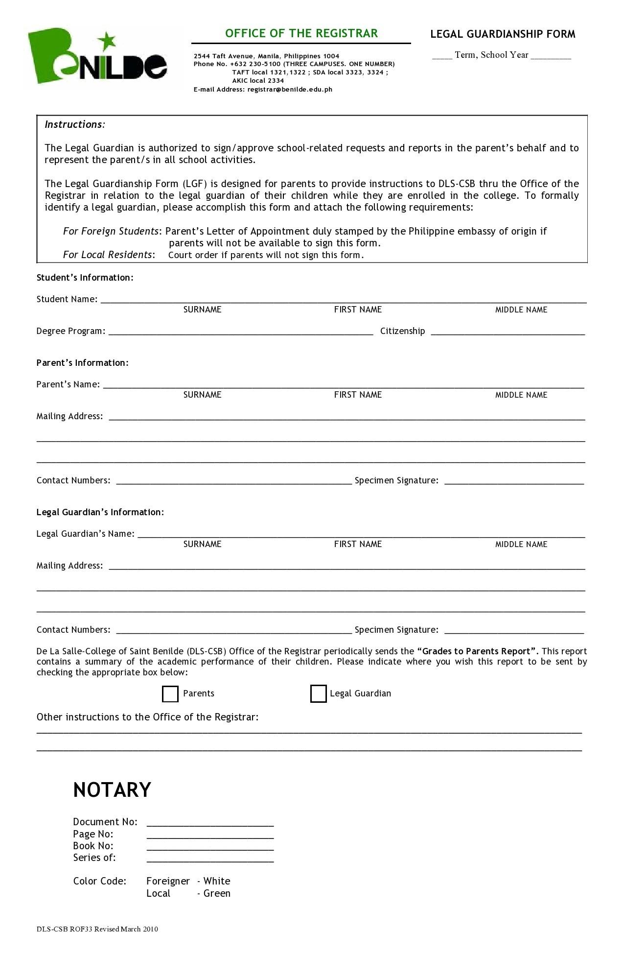 Free guardianship form 04