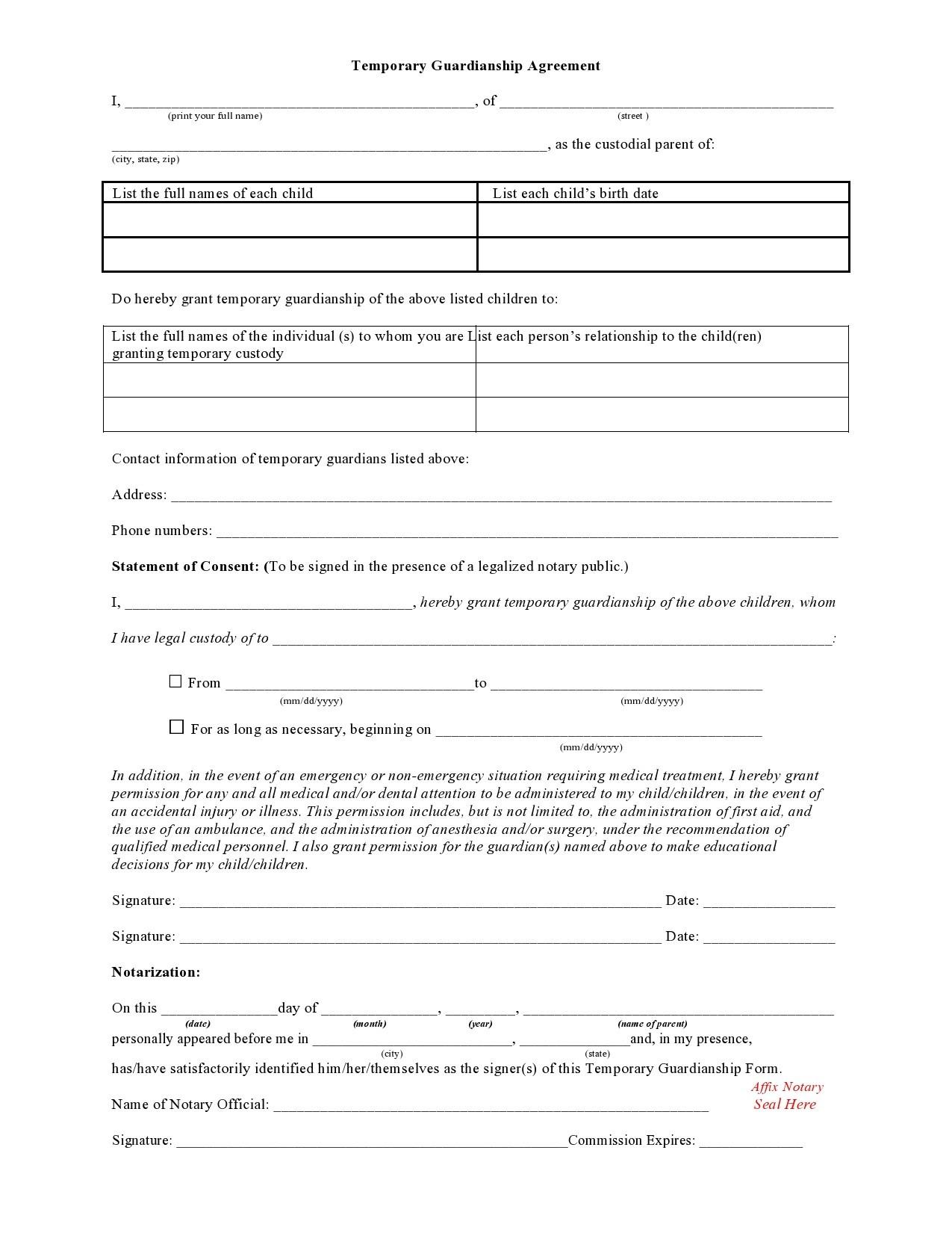 Free guardianship form 08