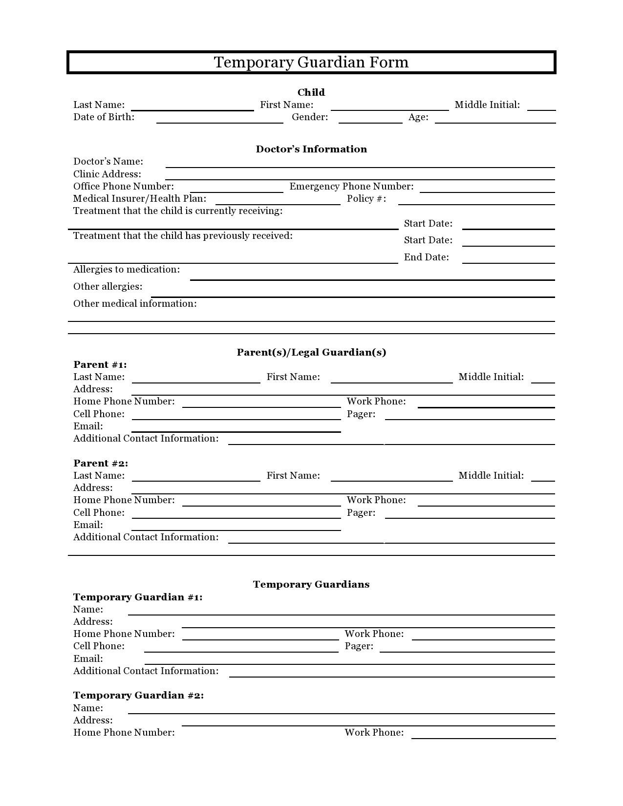 Free guardianship form 09