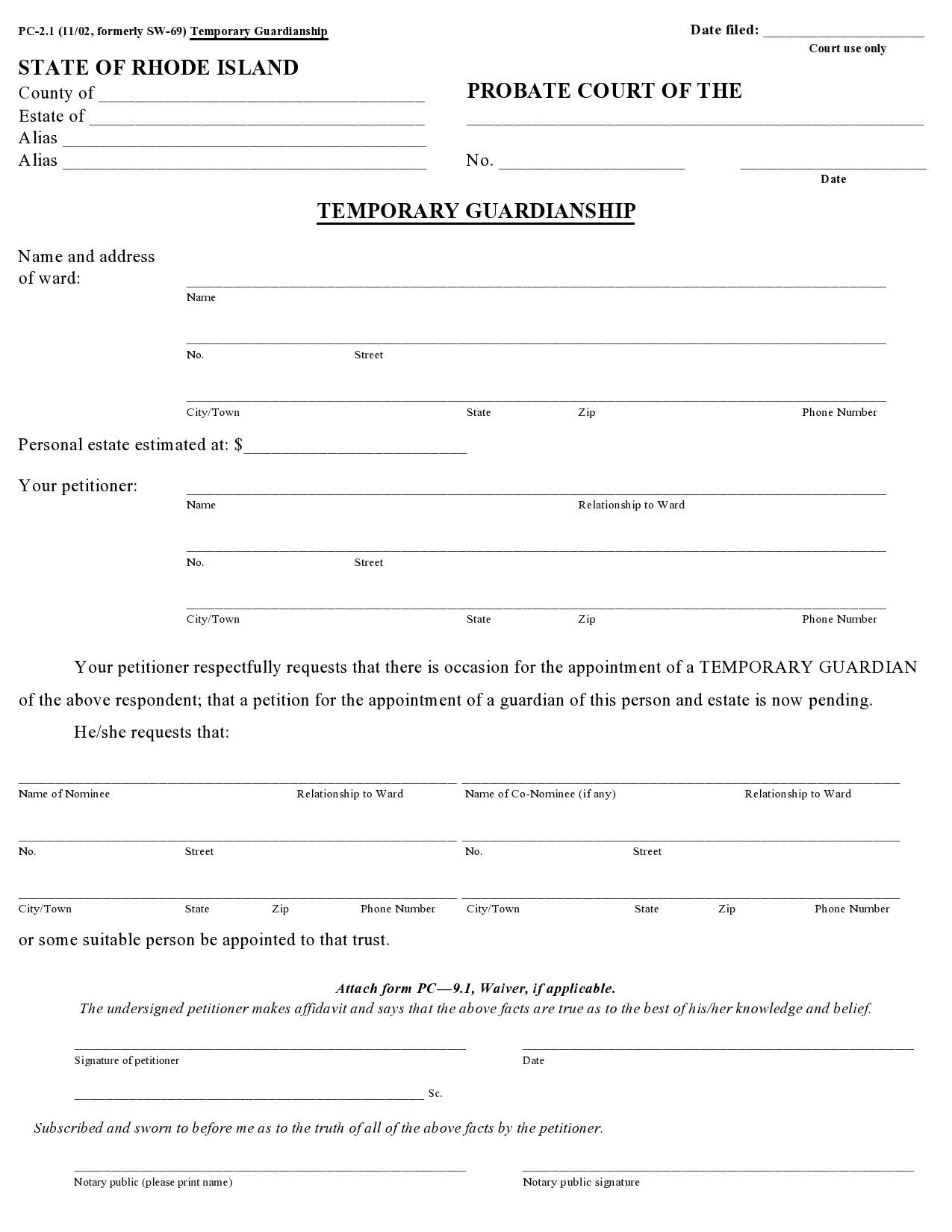 Free guardianship form 10
