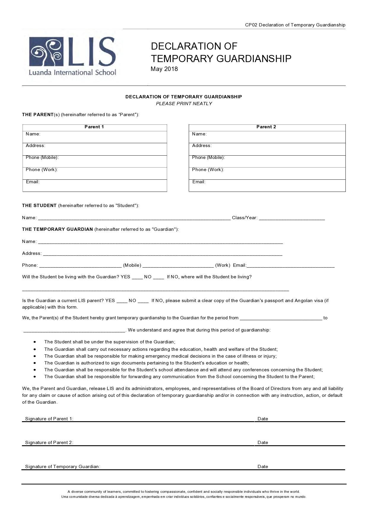 Free guardianship form 16