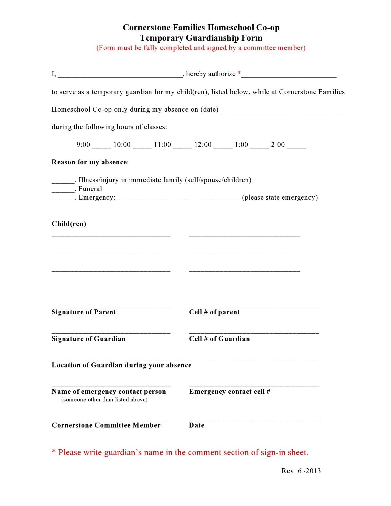 Free guardianship form 17