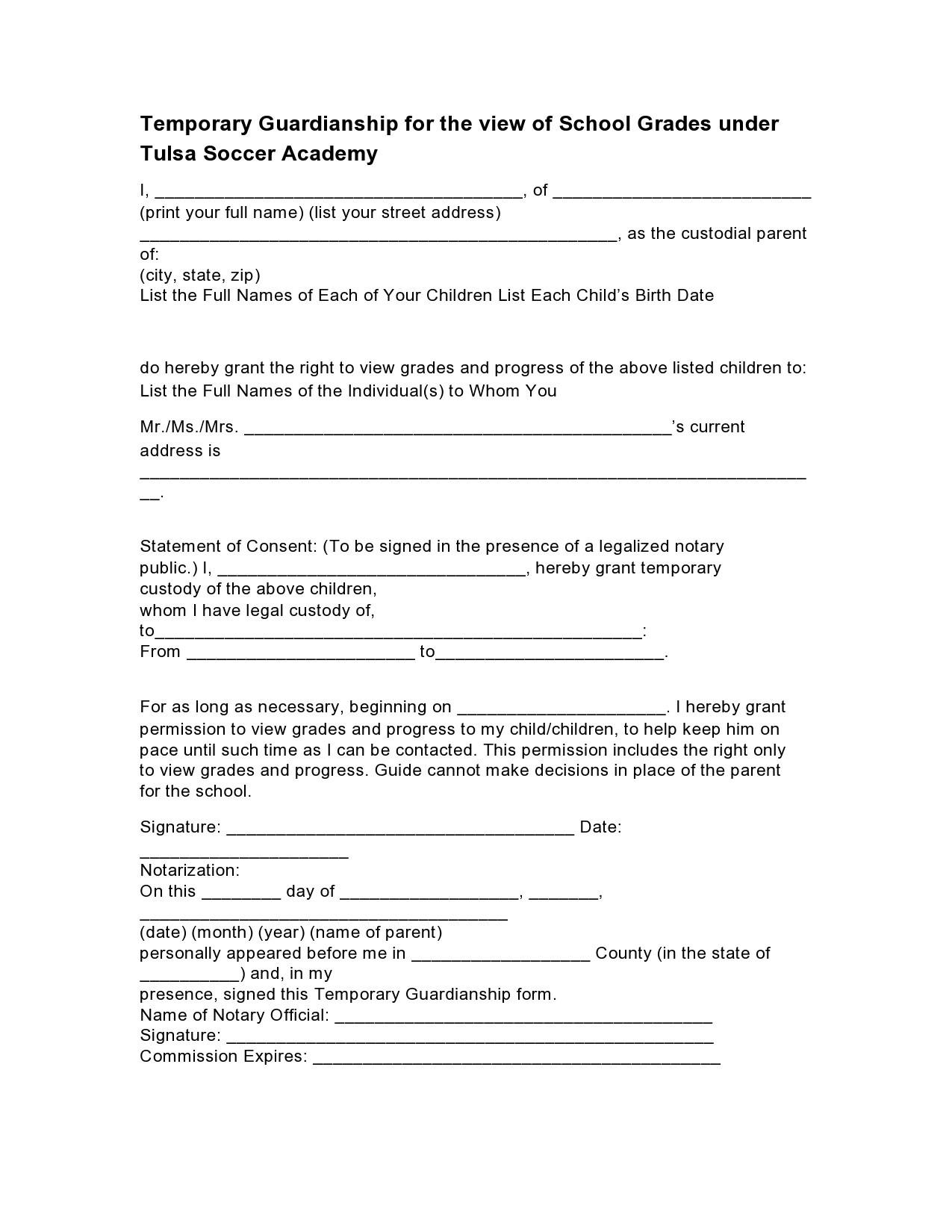 Free guardianship form 20