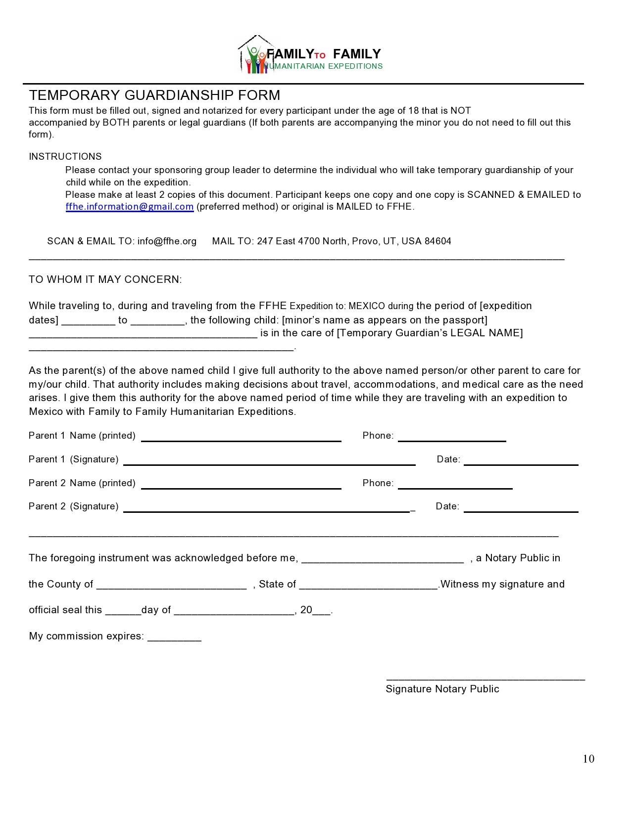 Free guardianship form 23