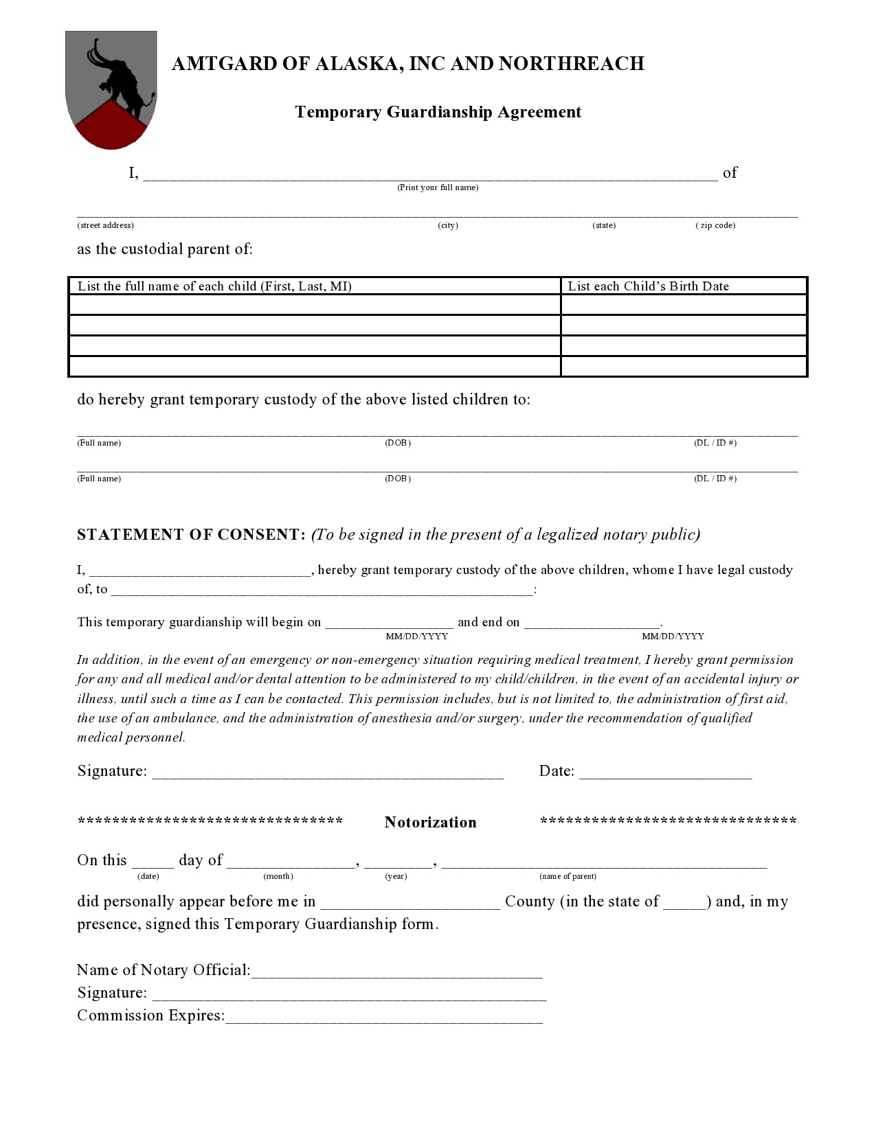 Free guardianship form 24