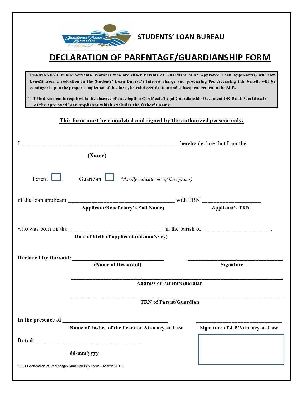 Free guardianship form 27