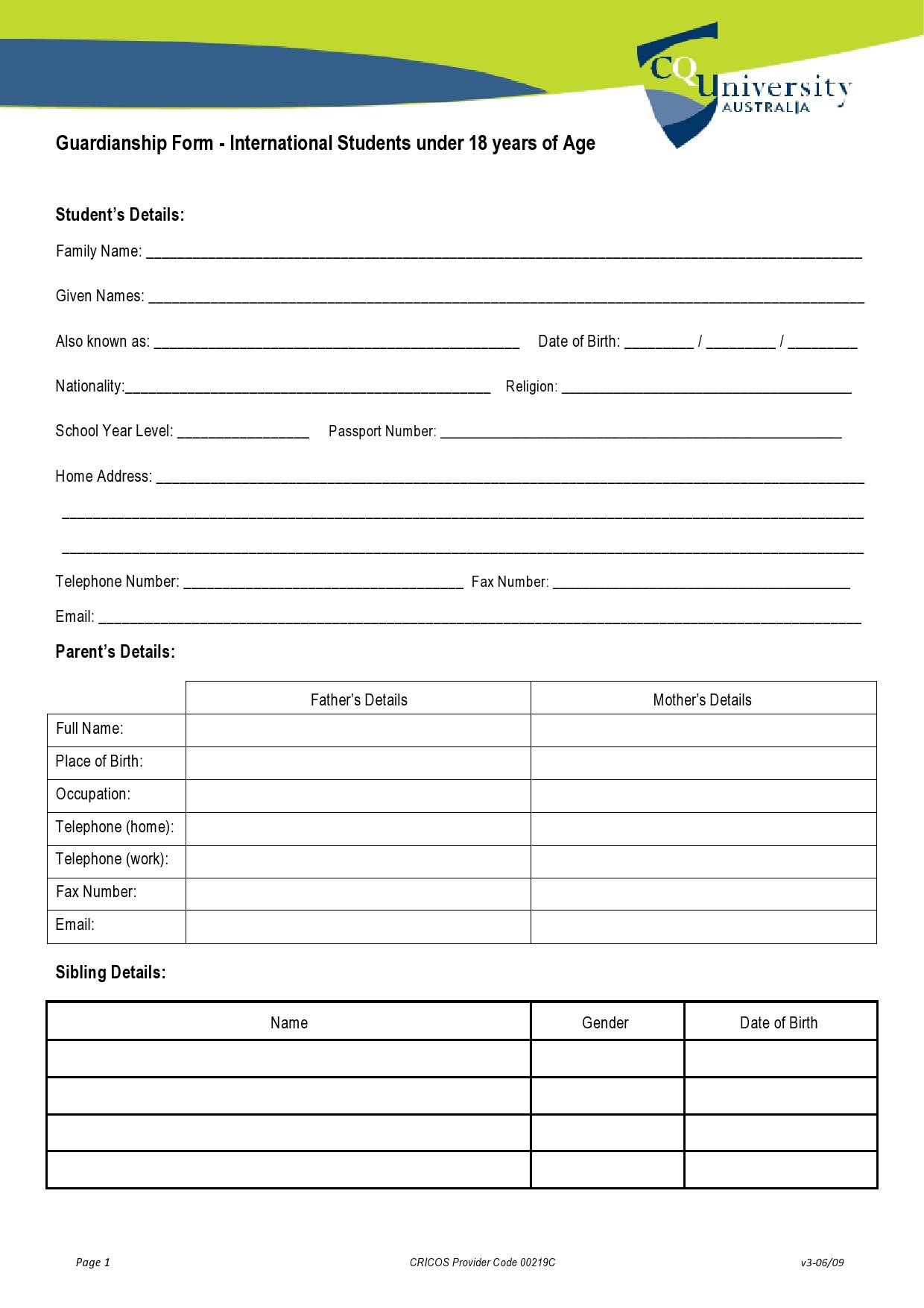 Free guardianship form 28
