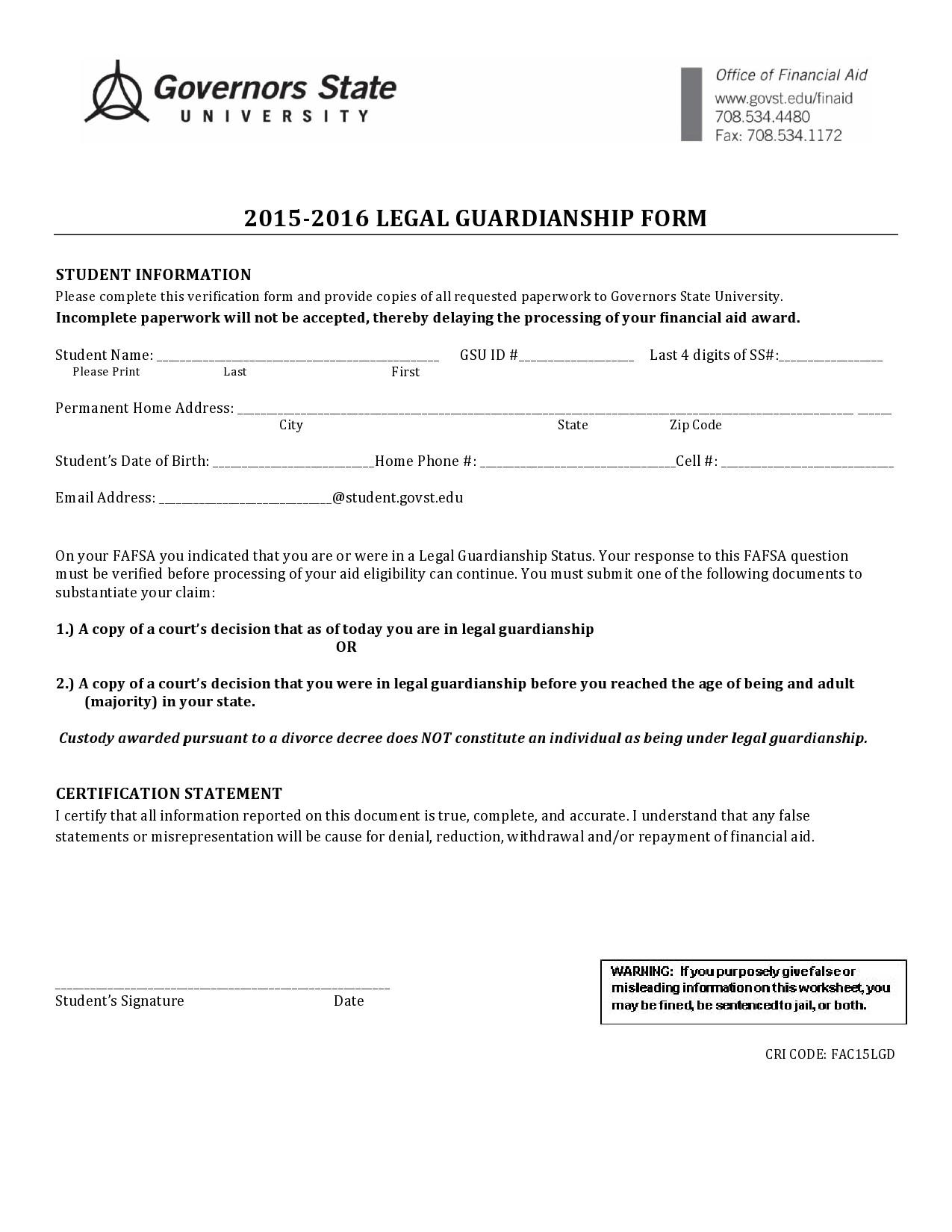 Free guardianship form 34
