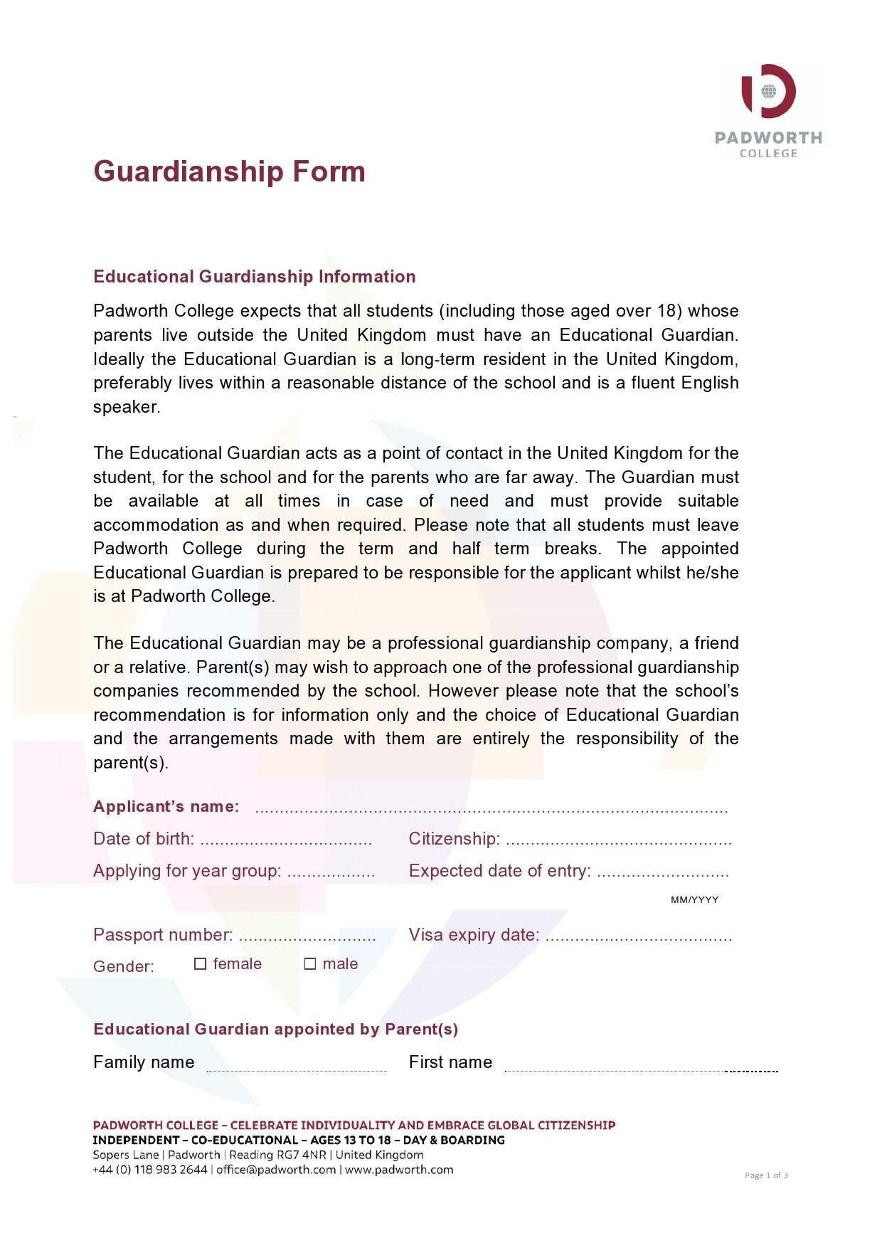 Free guardianship form 37