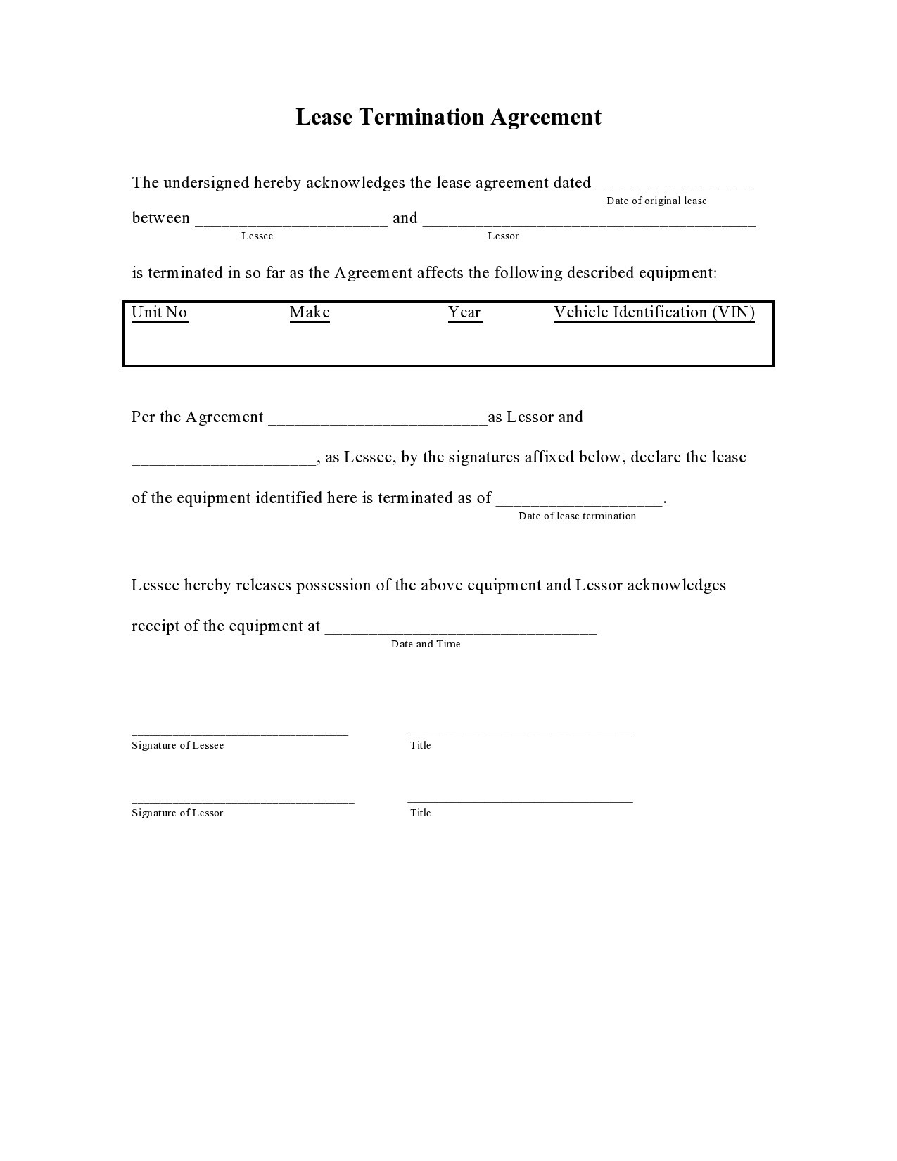 Free lease termination agreement 01