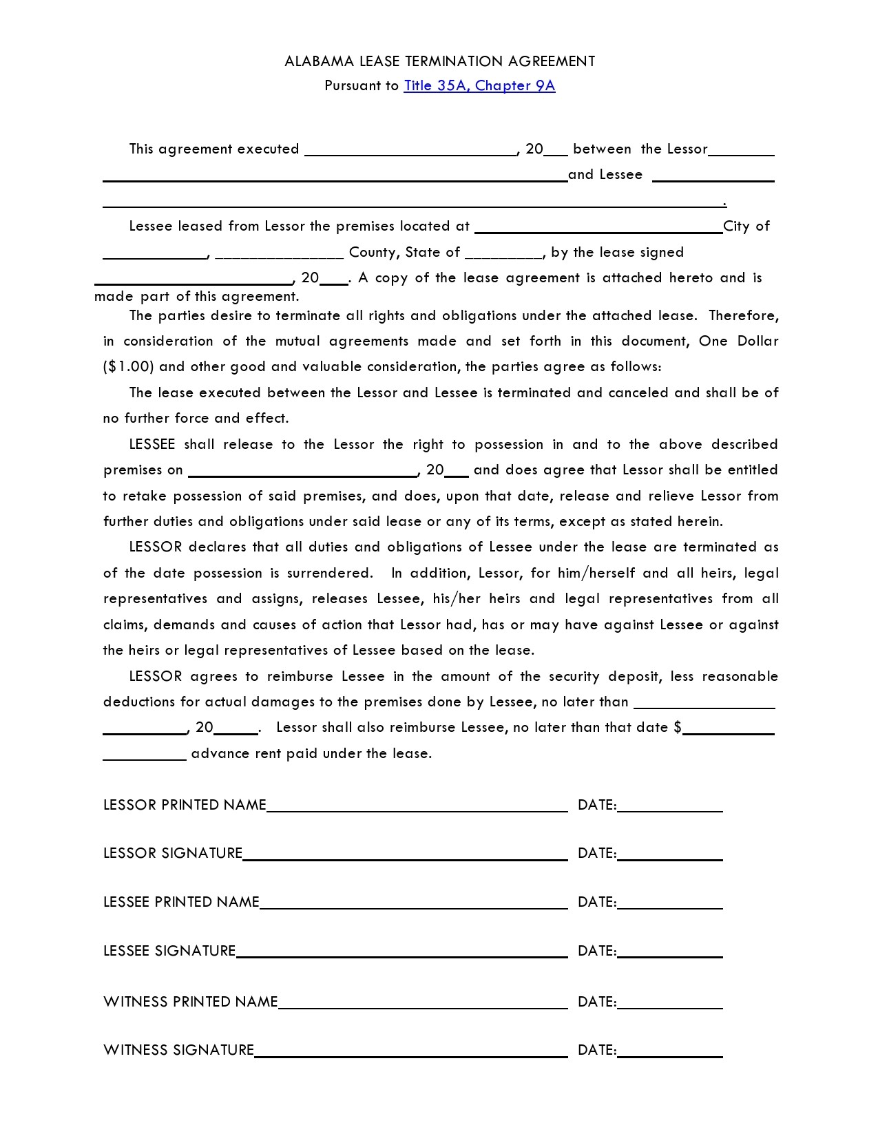 Free lease termination agreement 02