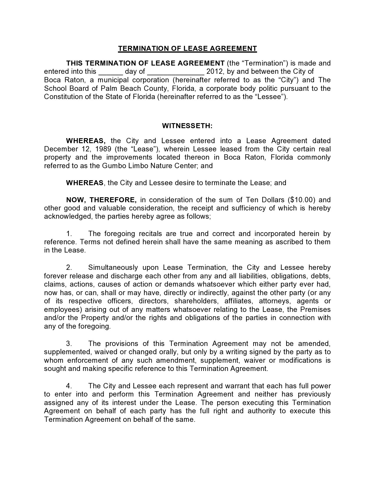 Free lease termination agreement 05