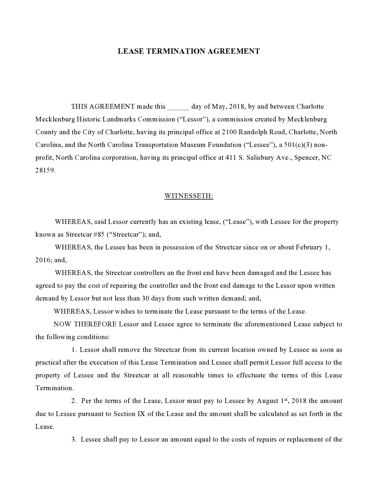 Free lease termination agreement 09