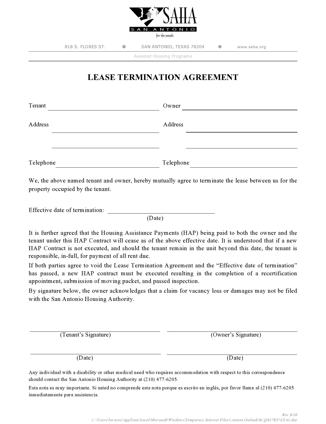 Free lease termination agreement 11