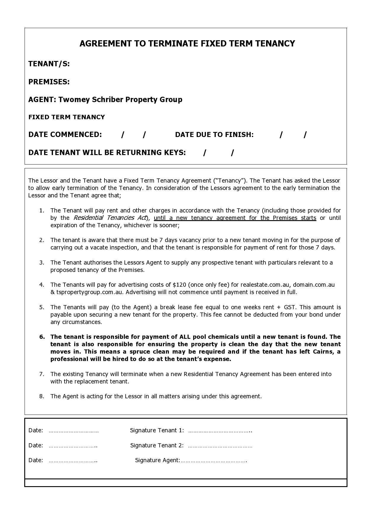 Free lease termination agreement 12