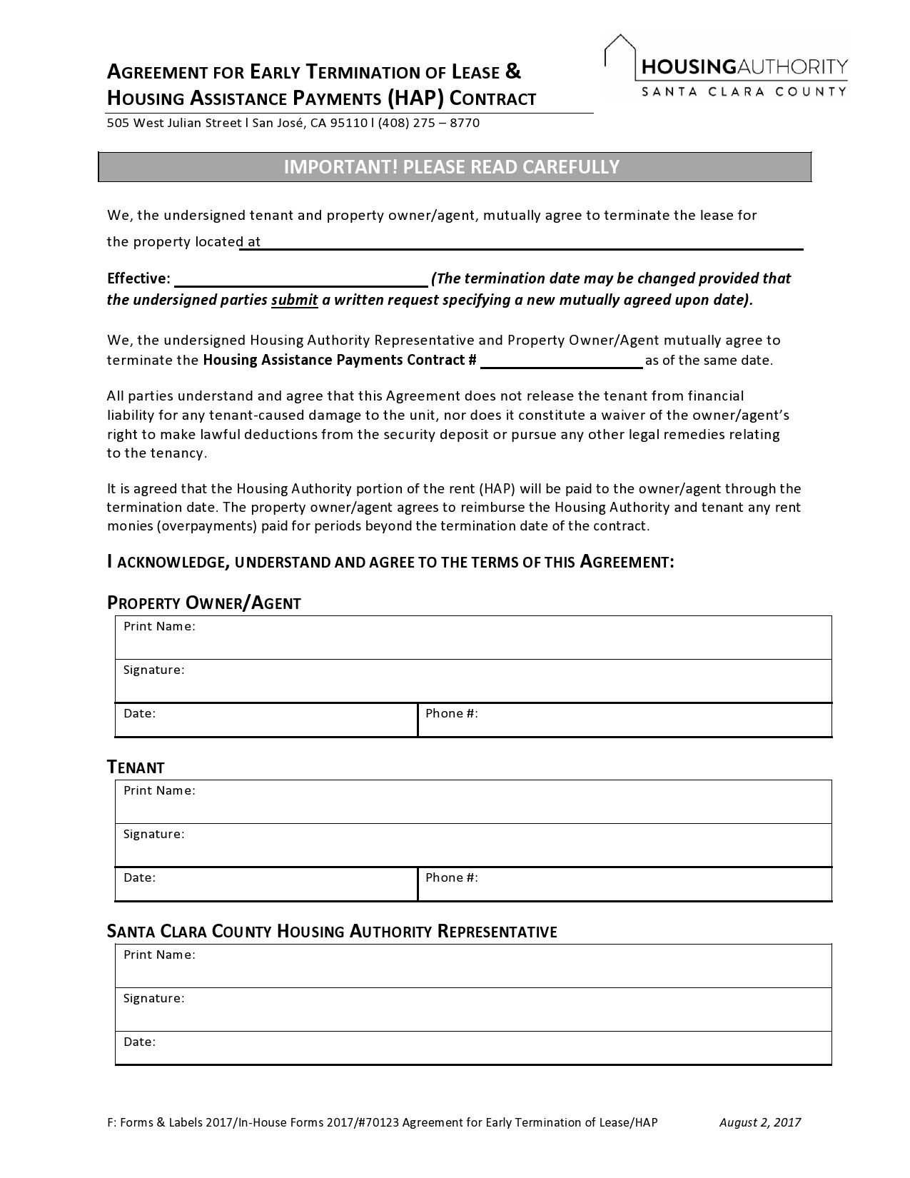 Free lease termination agreement 13