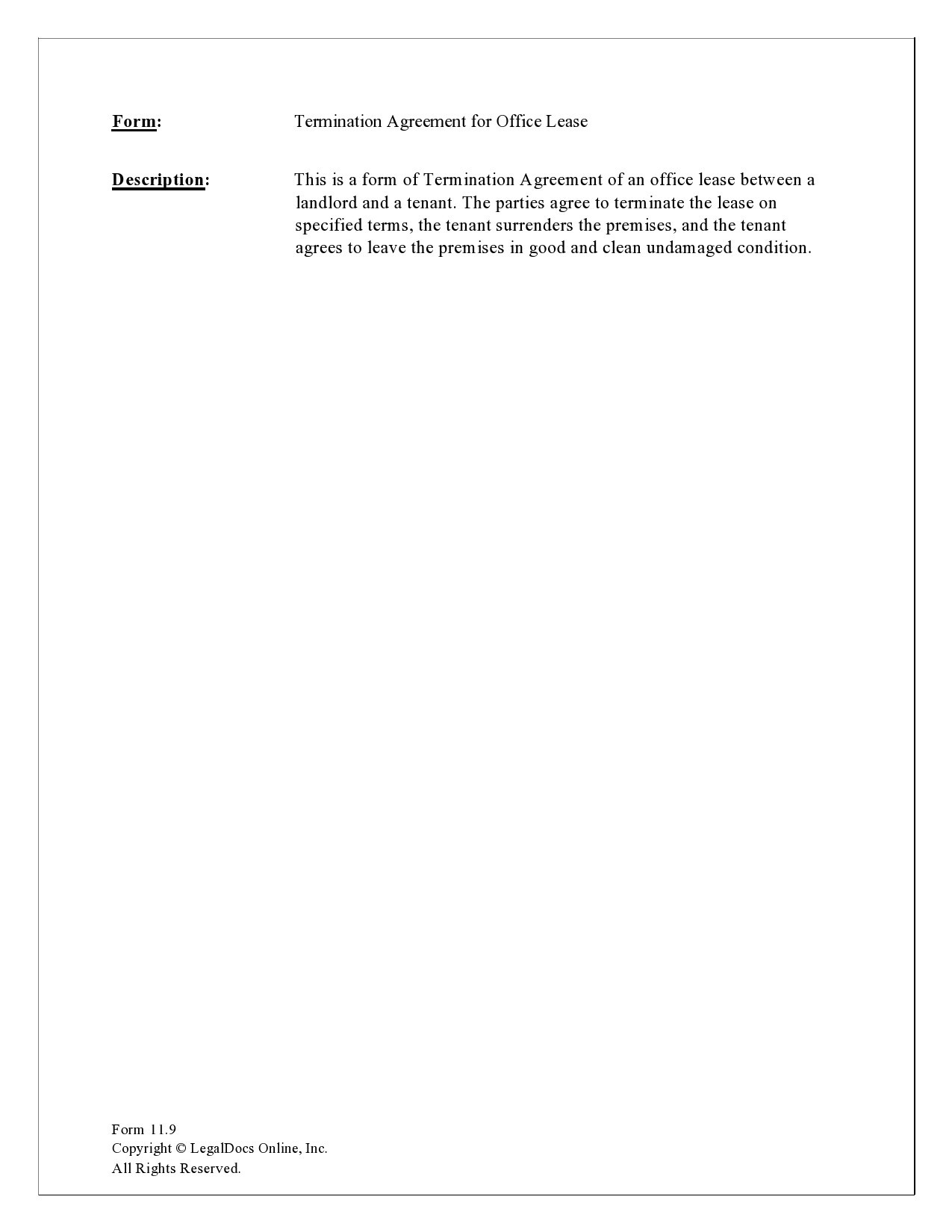 Free lease termination agreement 14