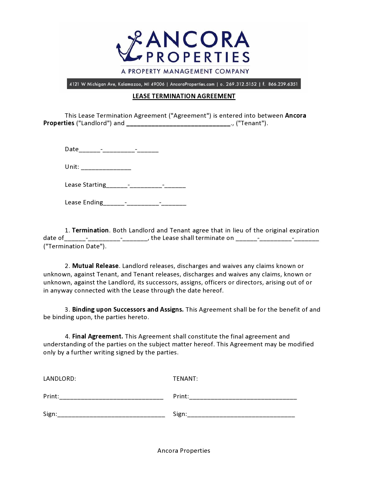 Free lease termination agreement 15
