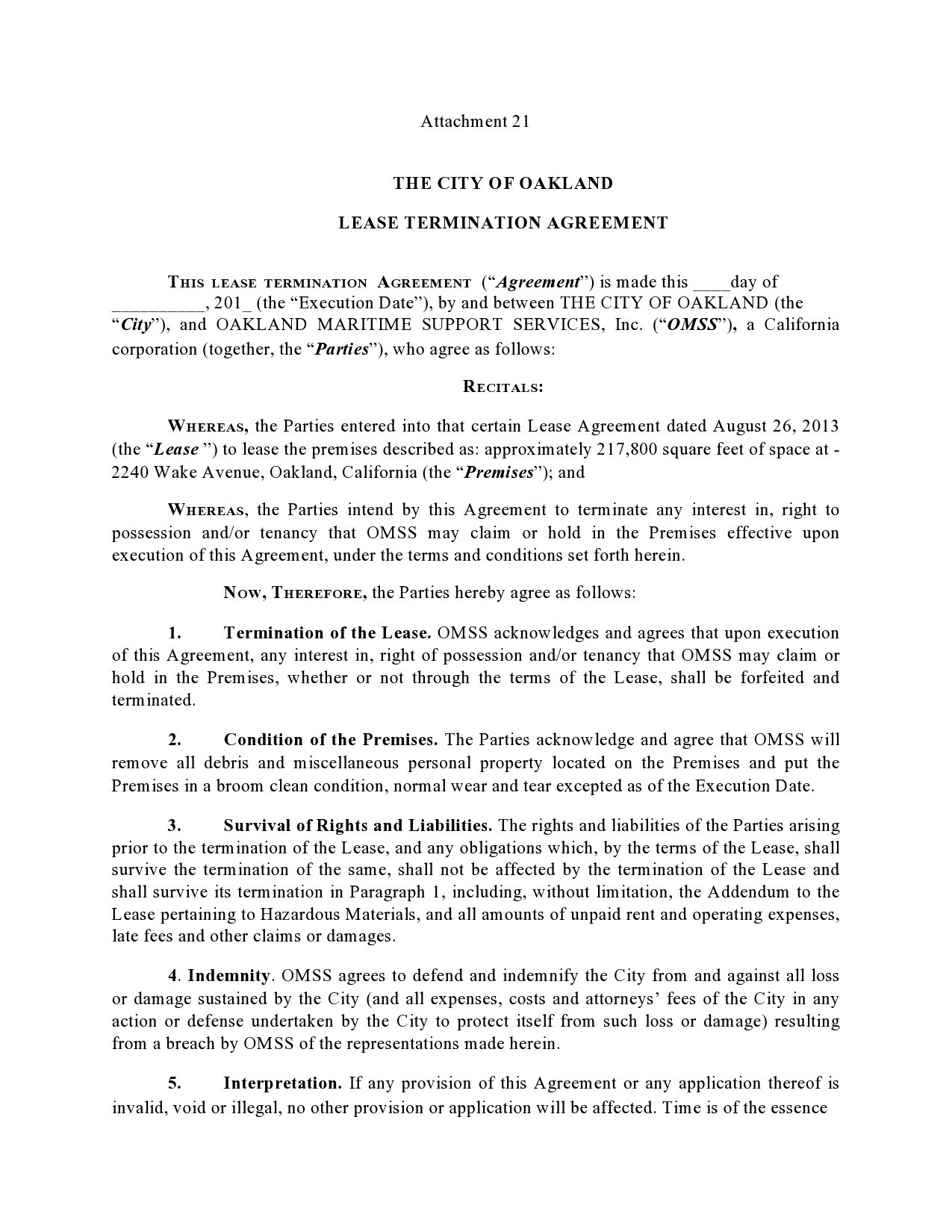 Free lease termination agreement 25