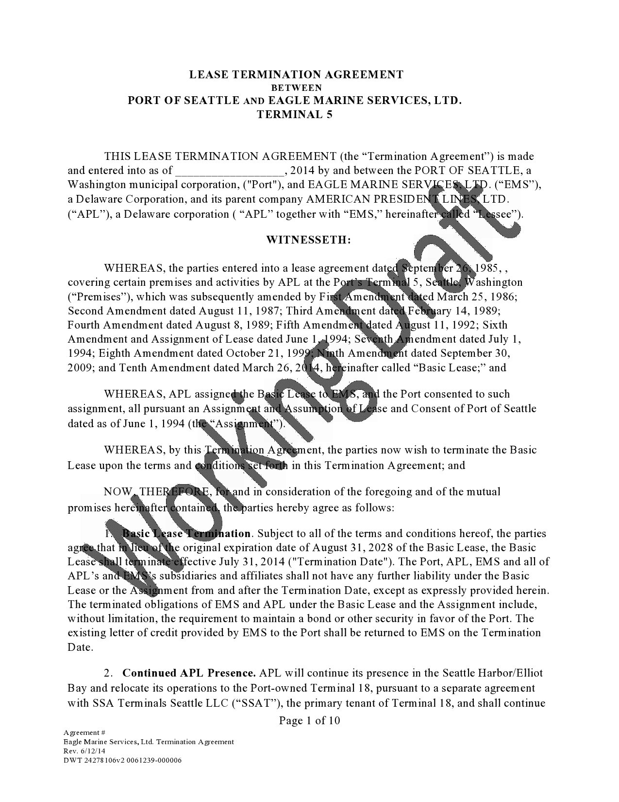 Free lease termination agreement 26
