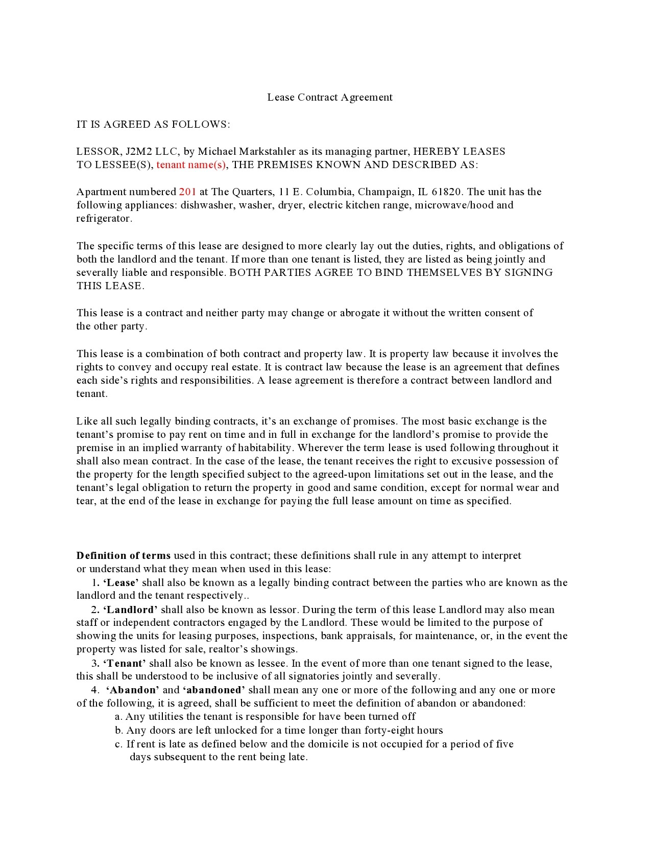 Free lease termination agreement 28