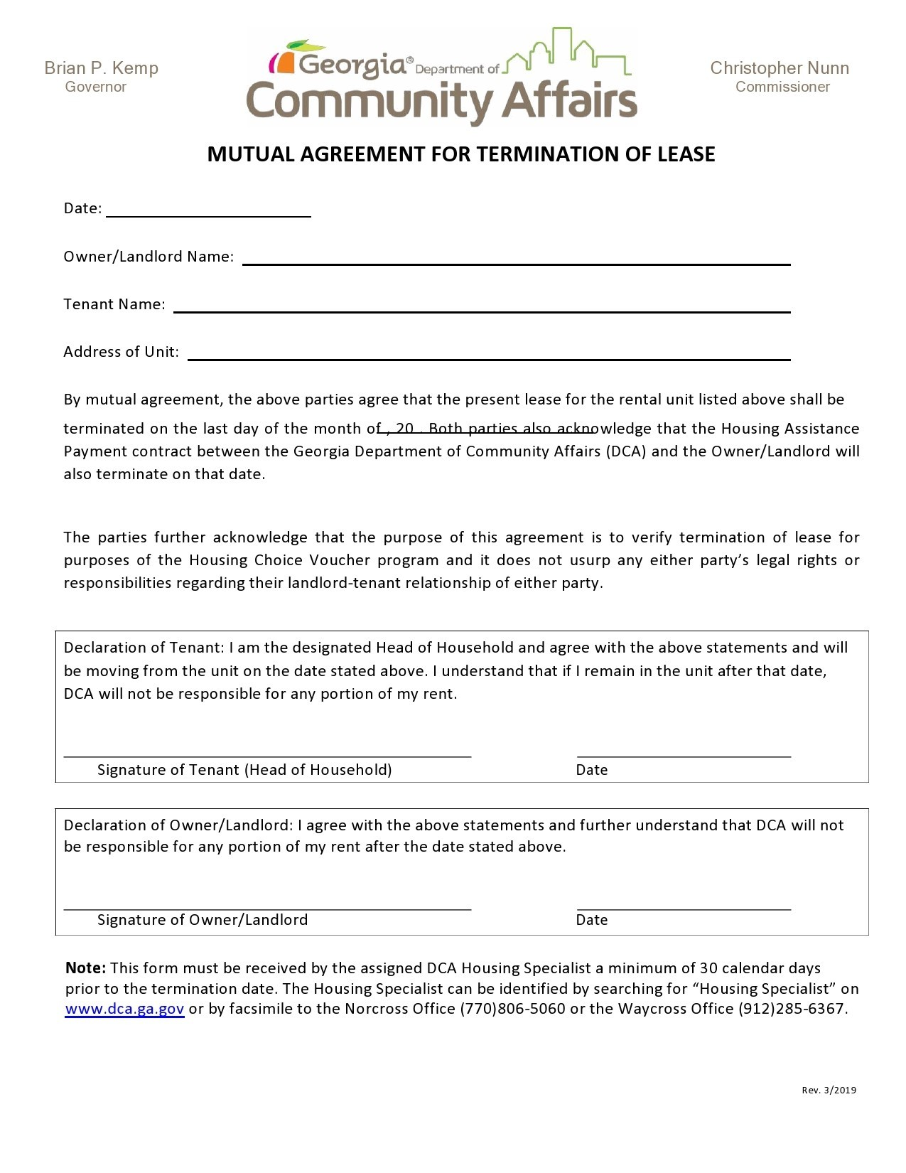 Free lease termination agreement 32