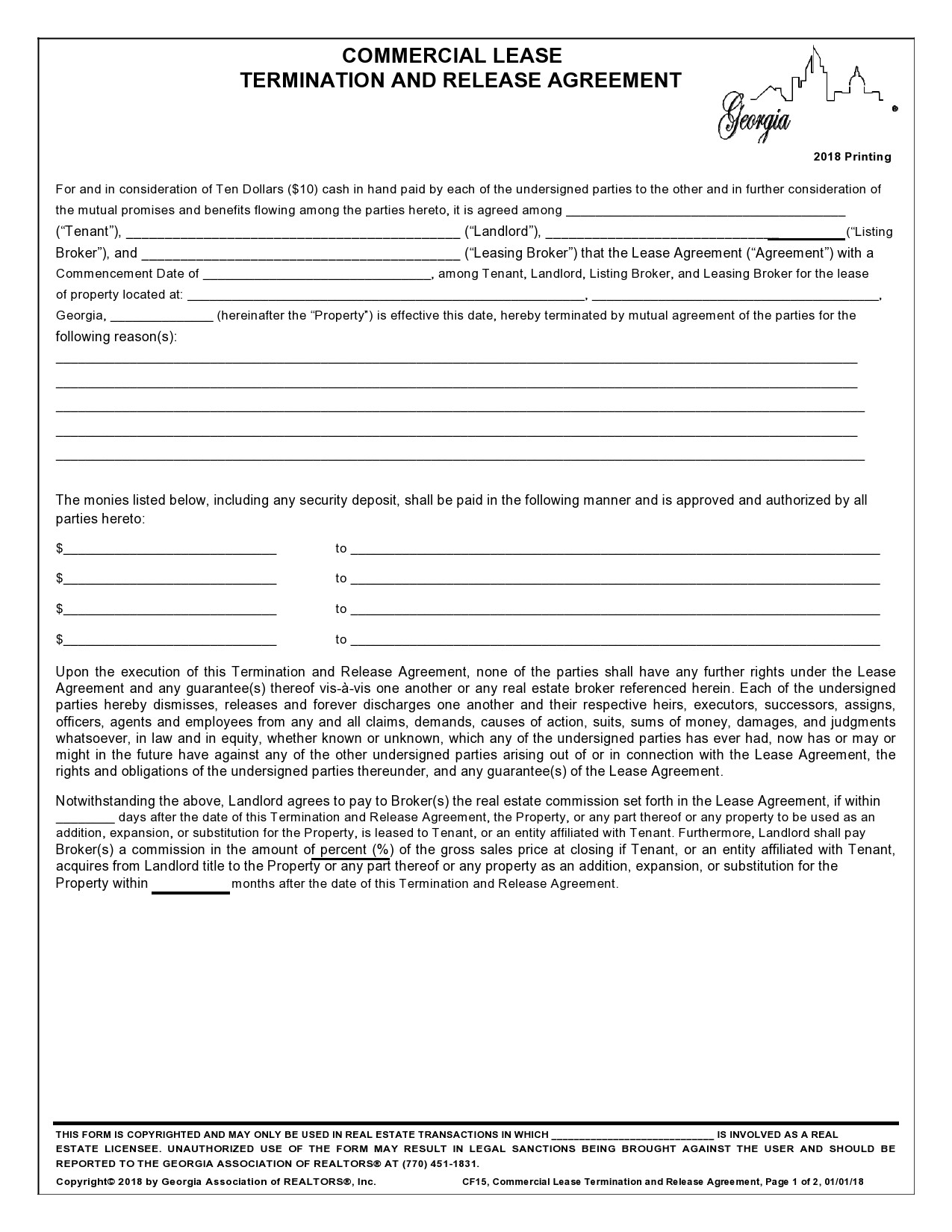 Free lease termination agreement 35