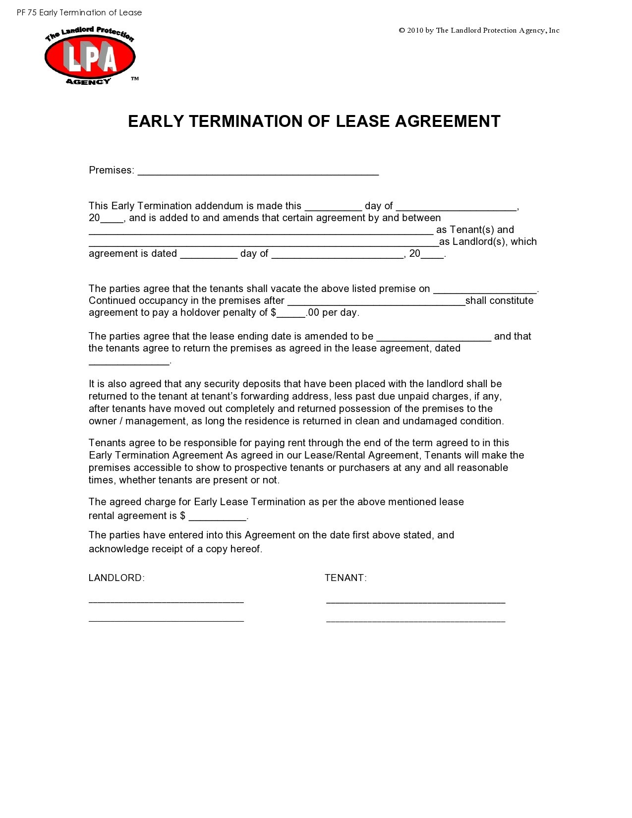 Free lease termination agreement 37
