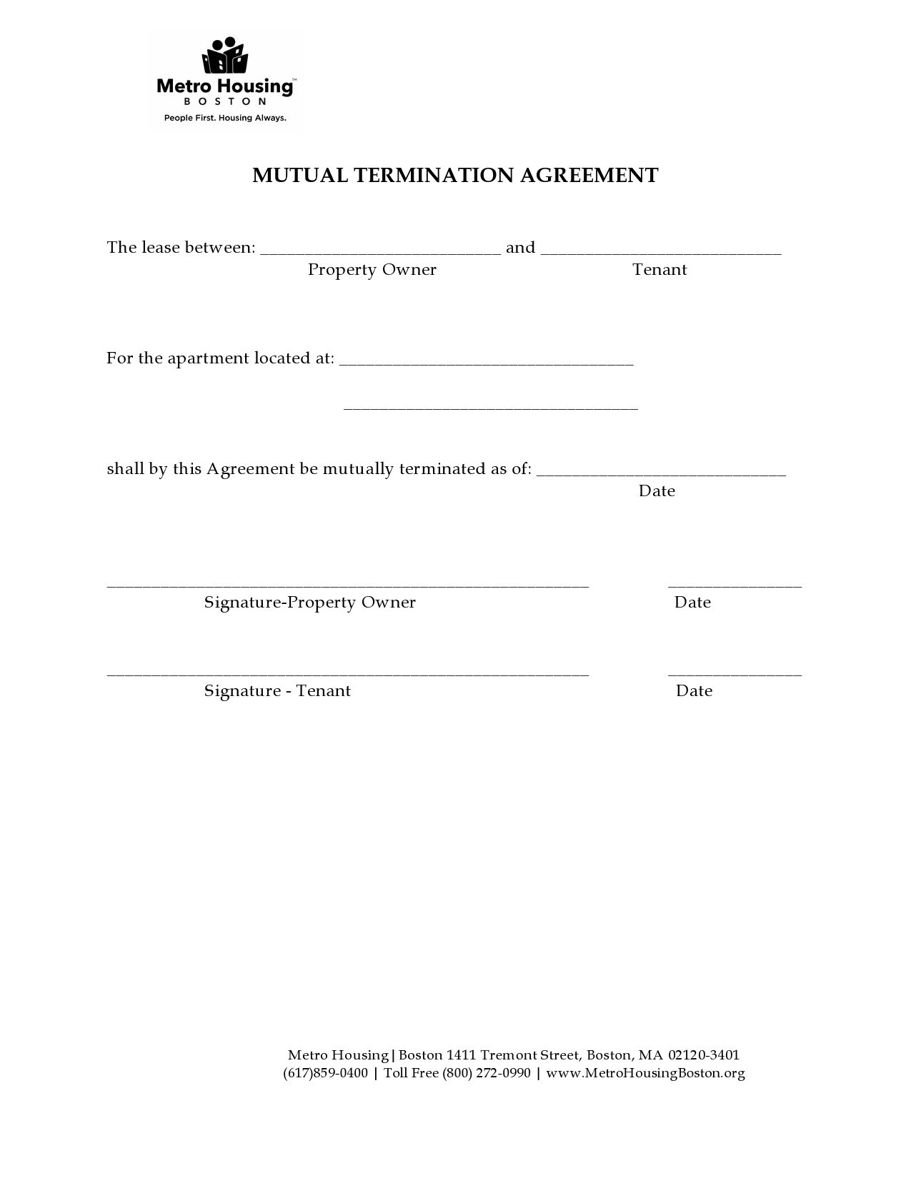 Free lease termination agreement 38