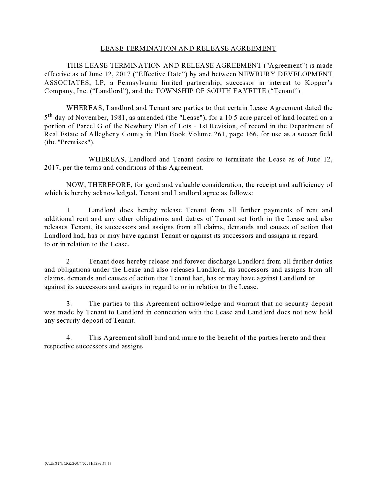 Free lease termination agreement 41