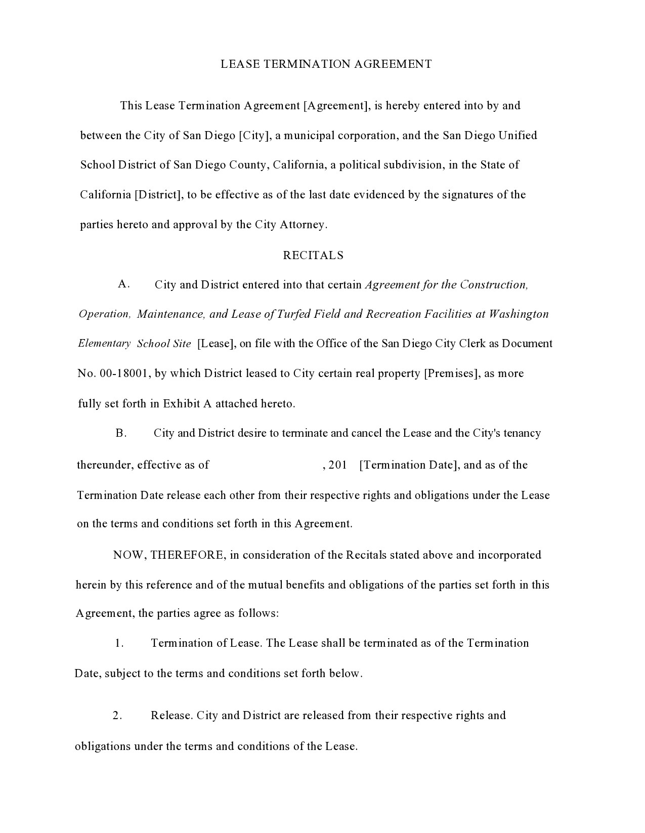 Free lease termination agreement 47