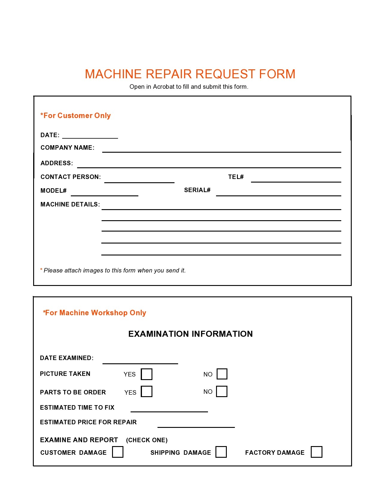 Free maintenance request form 33