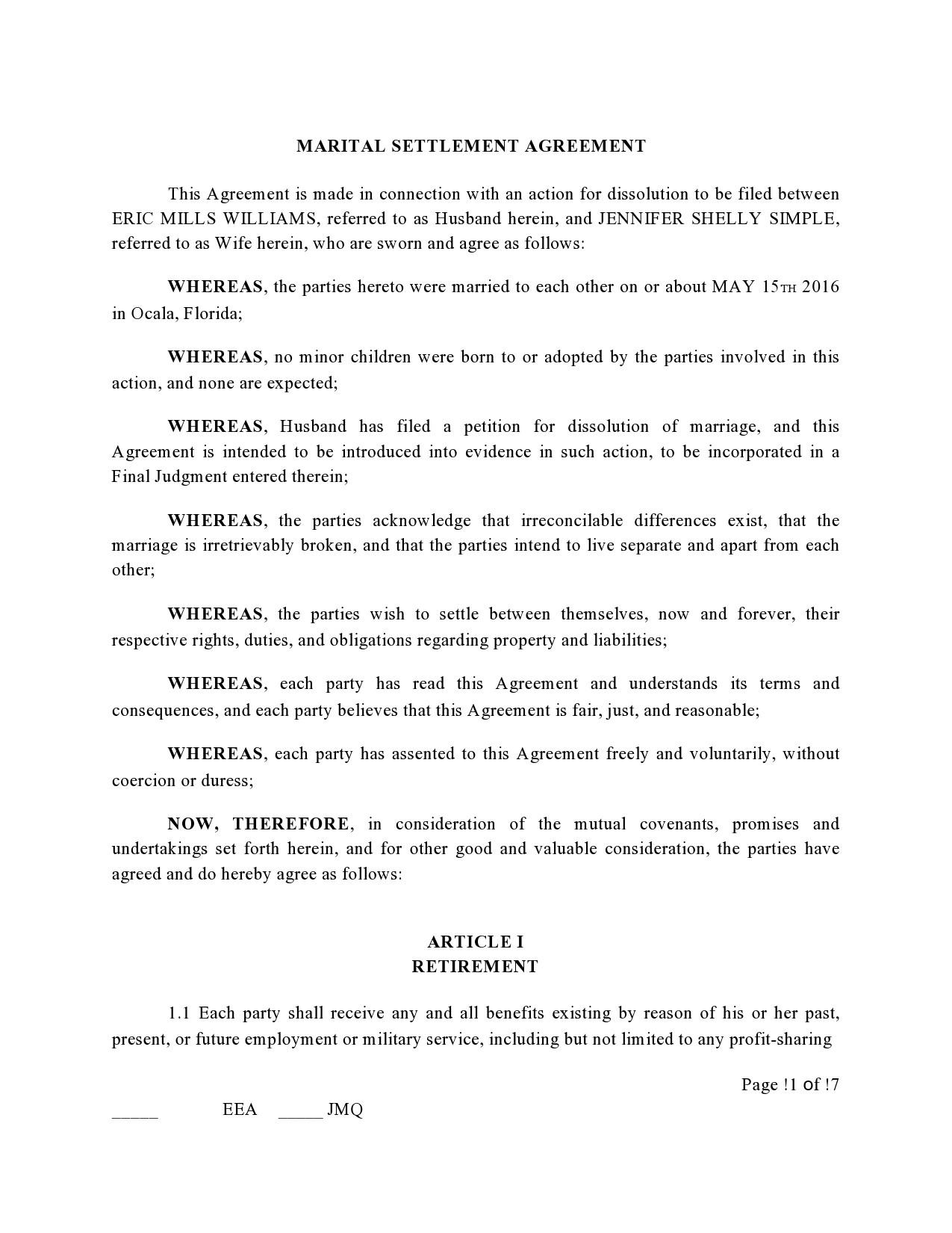Free marital settlement agreement 10