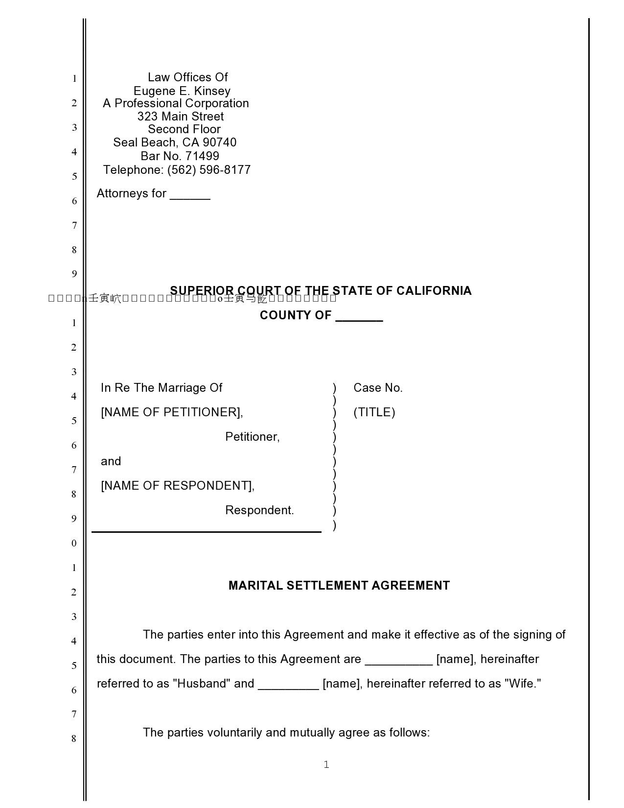 Free marital settlement agreement 14