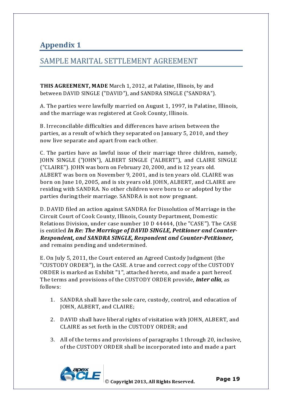 Free marital settlement agreement 18