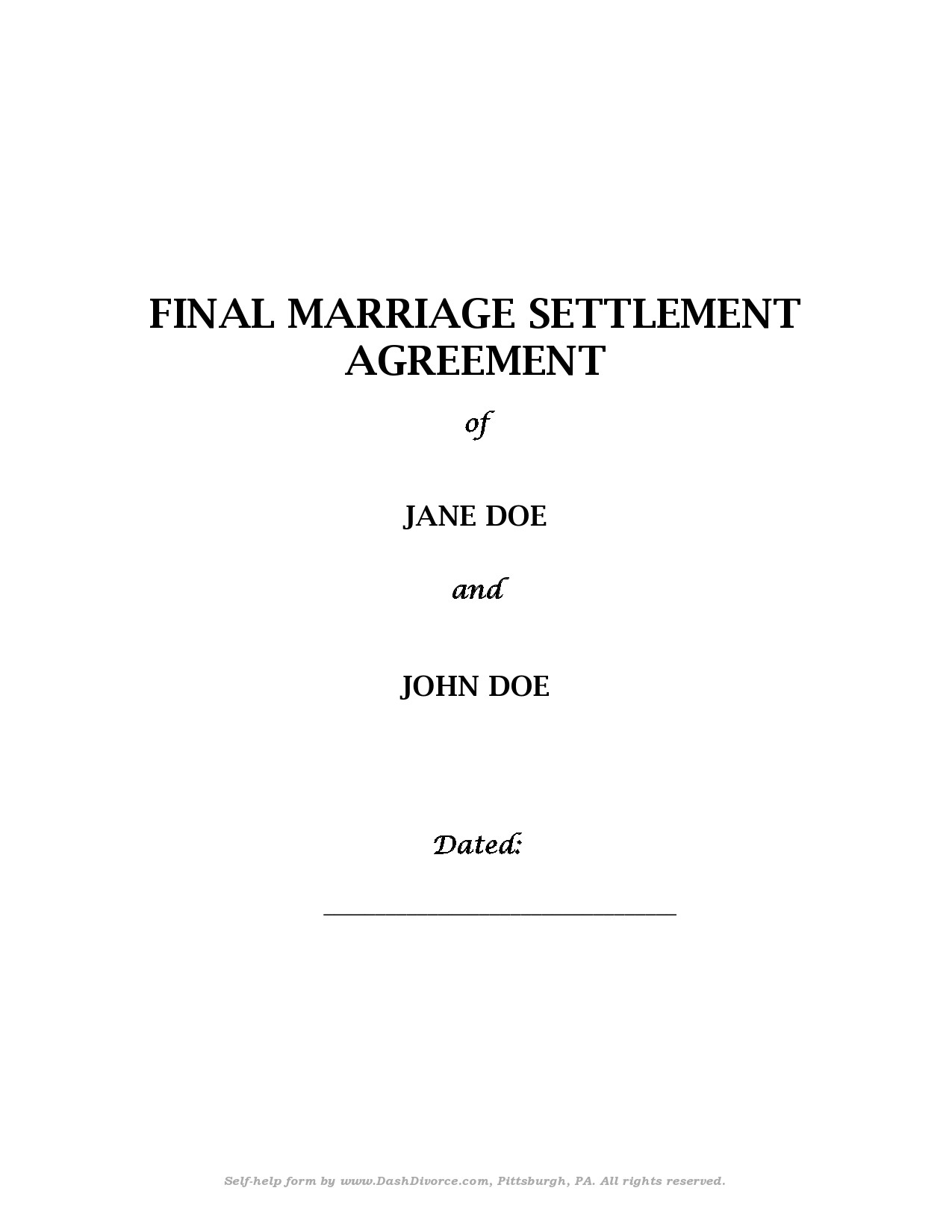 Free marital settlement agreement 29