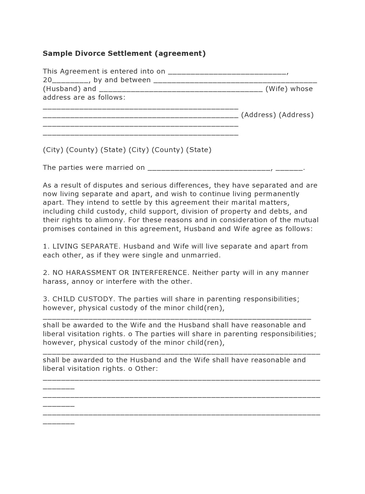 Free marital settlement agreement 37