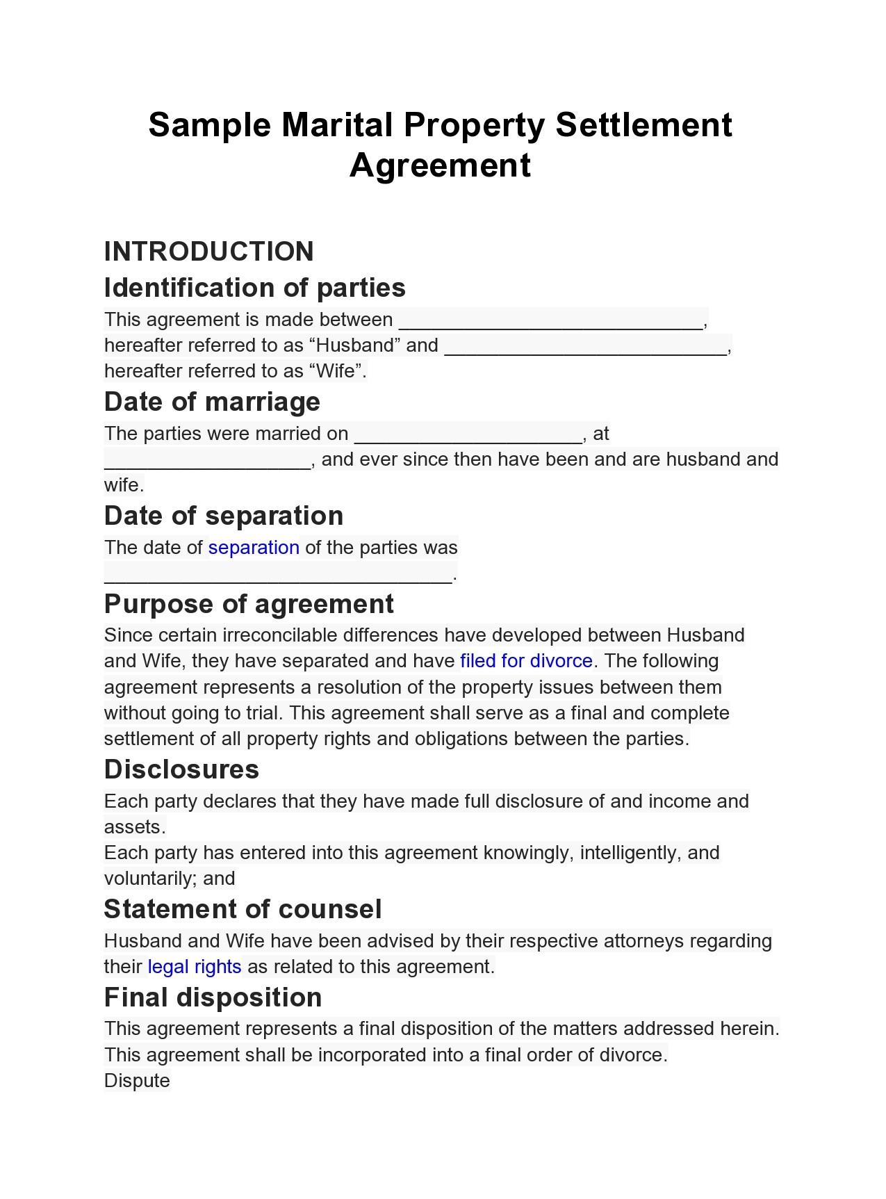 Free marital settlement agreement 38