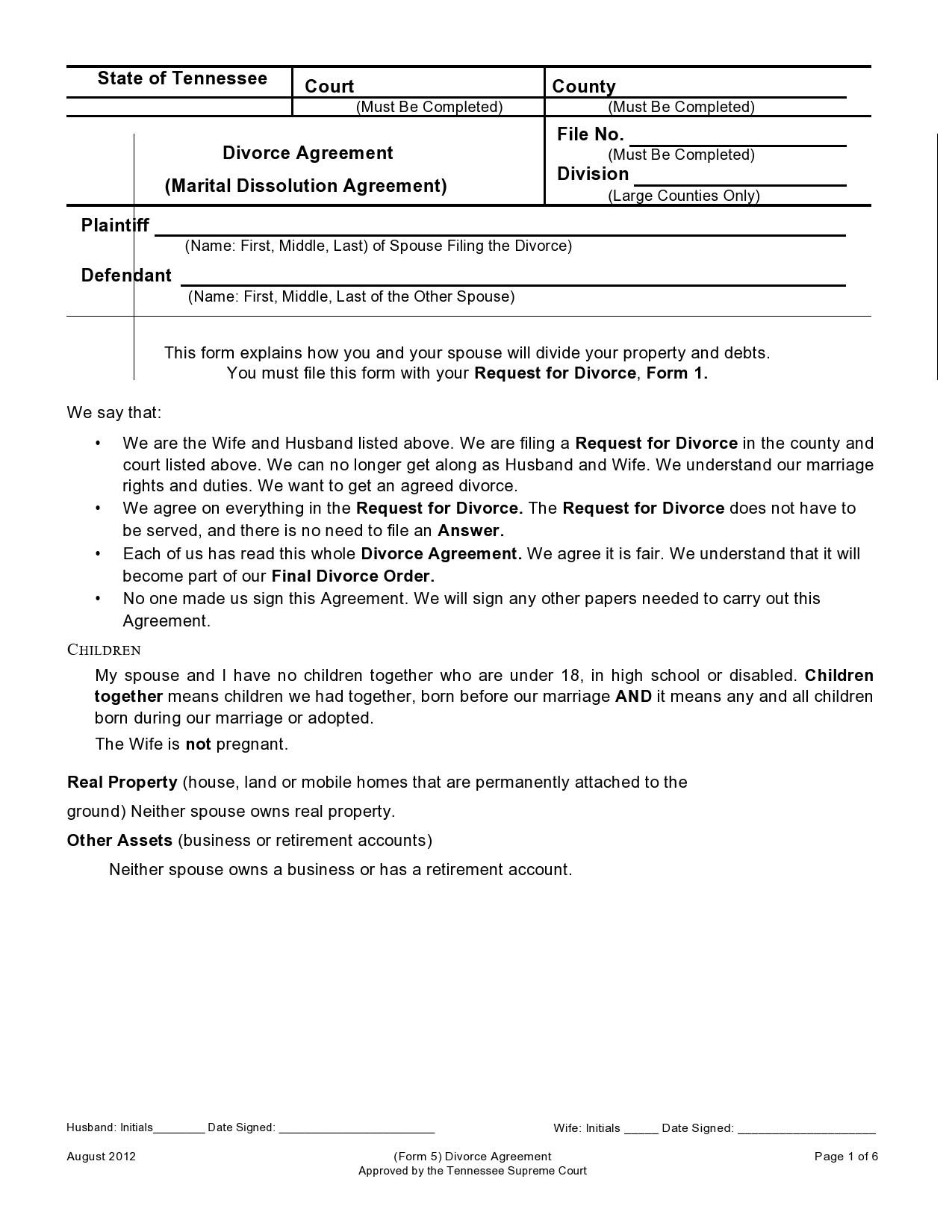 Free marital settlement agreement 39