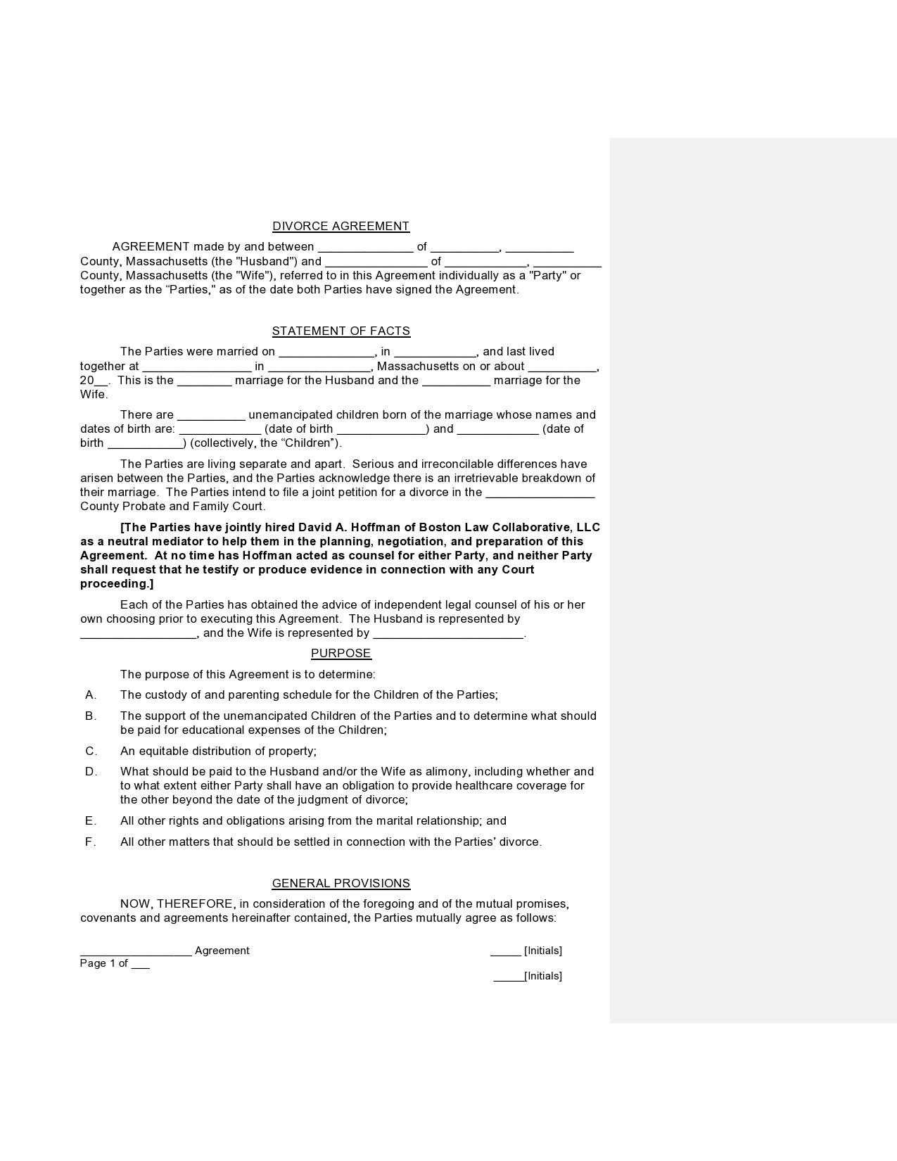 Free marital settlement agreement 43
