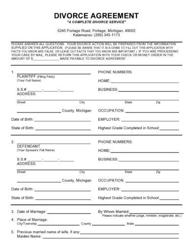 Marital Settlement Agreements