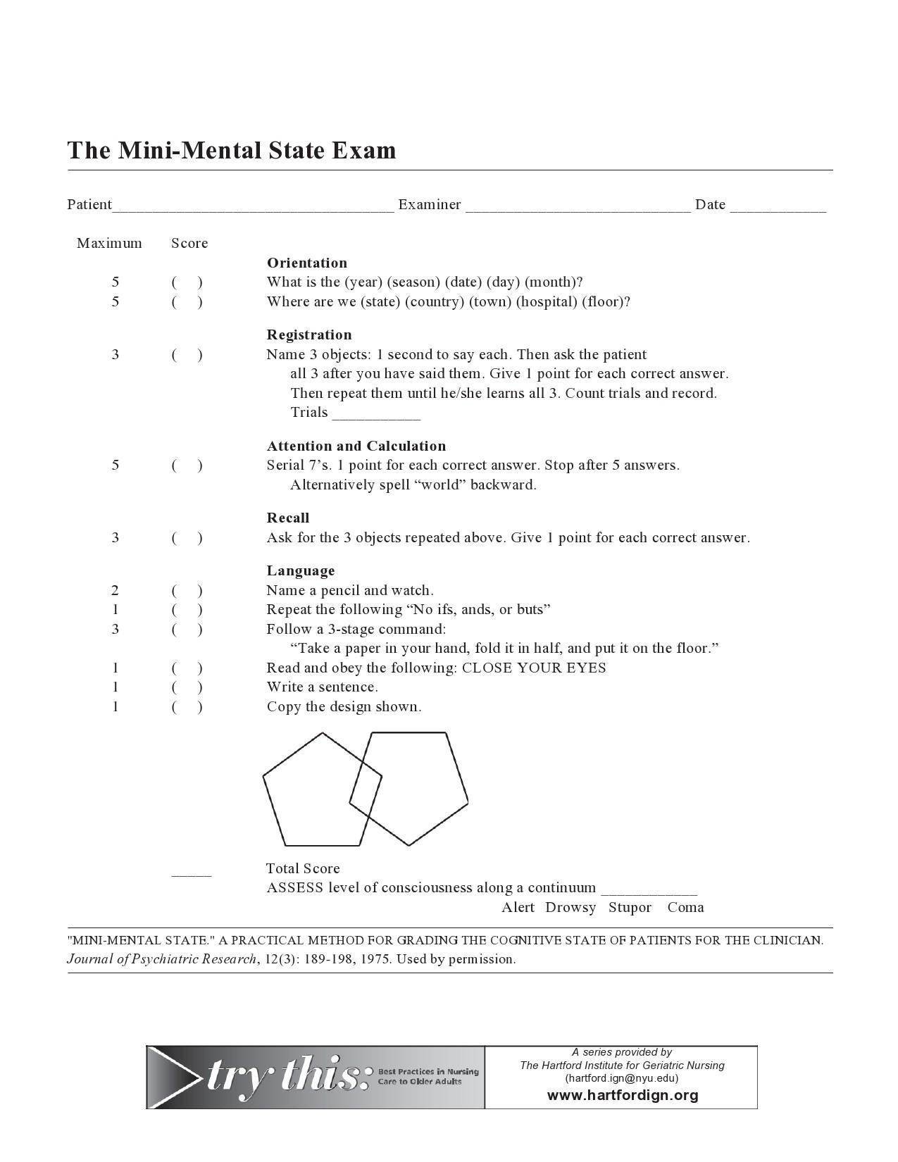 Free mental status exam template 11