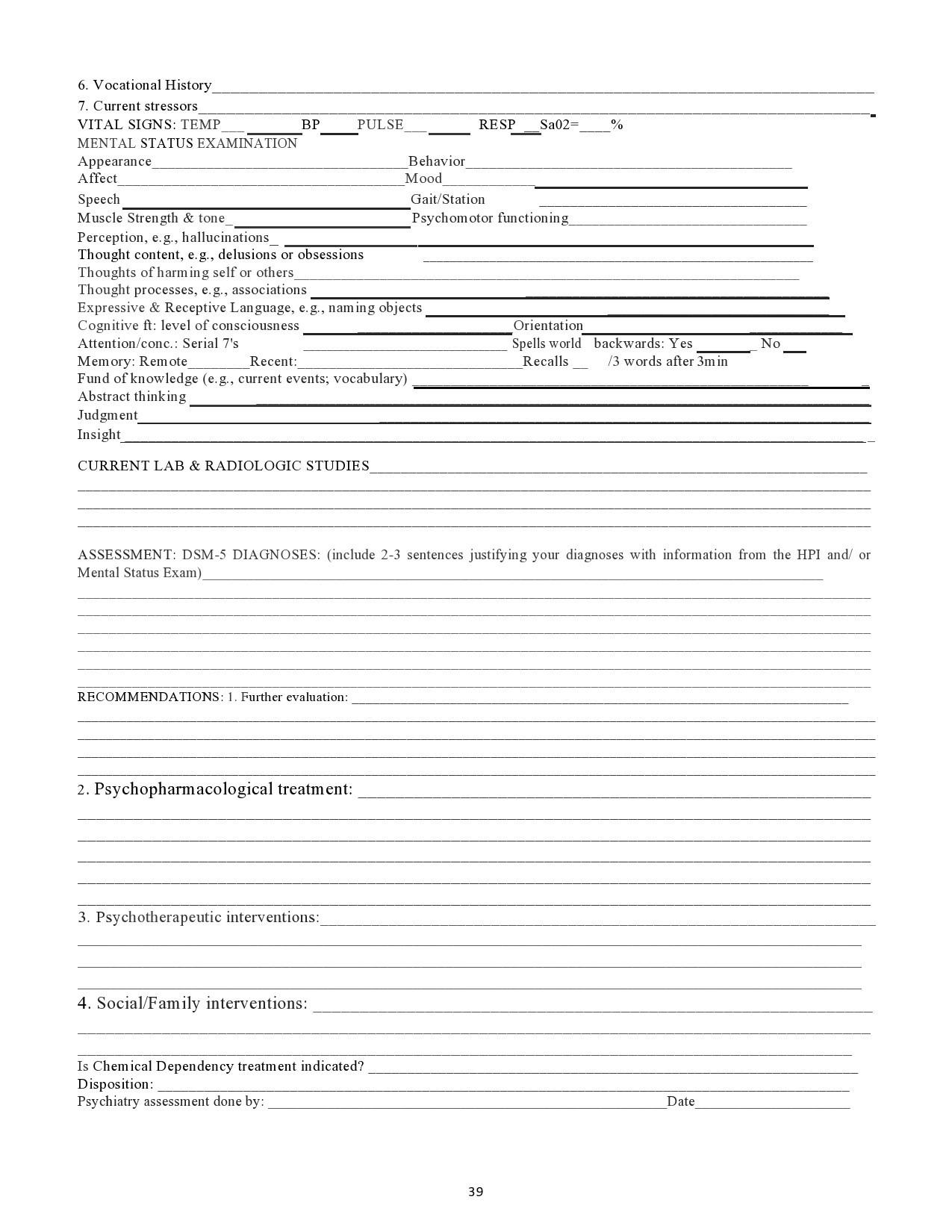 Free mental status exam template 21