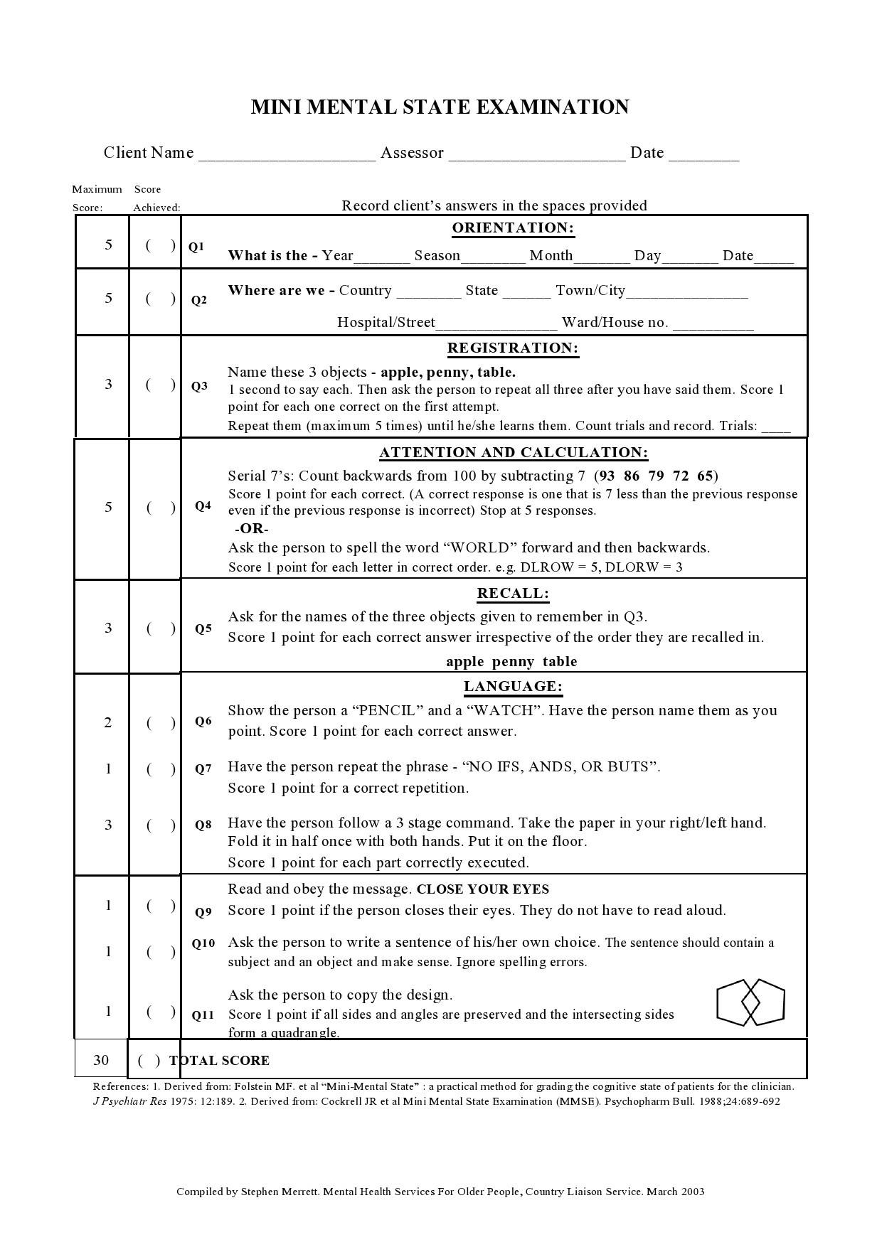 Free mental status exam template 24