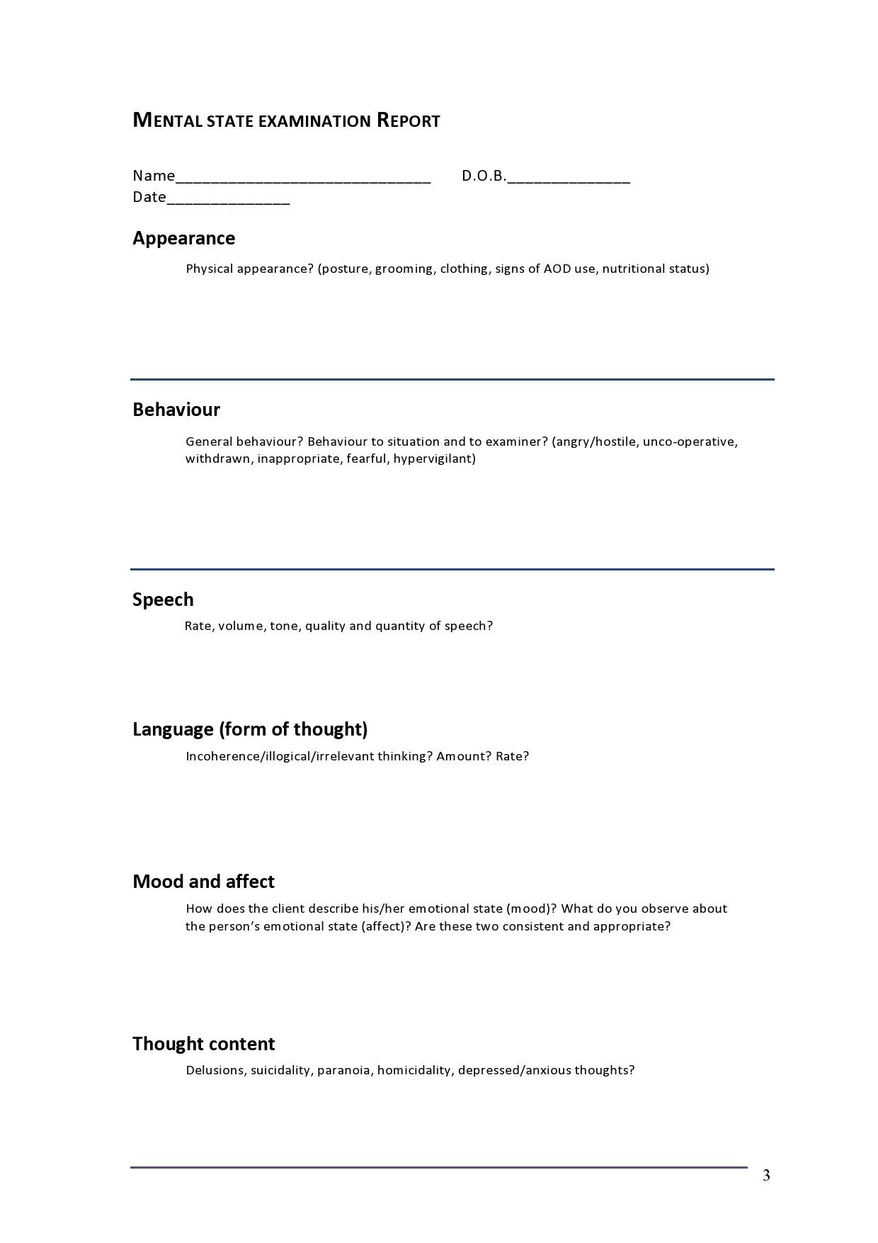 Free mental status exam template 32