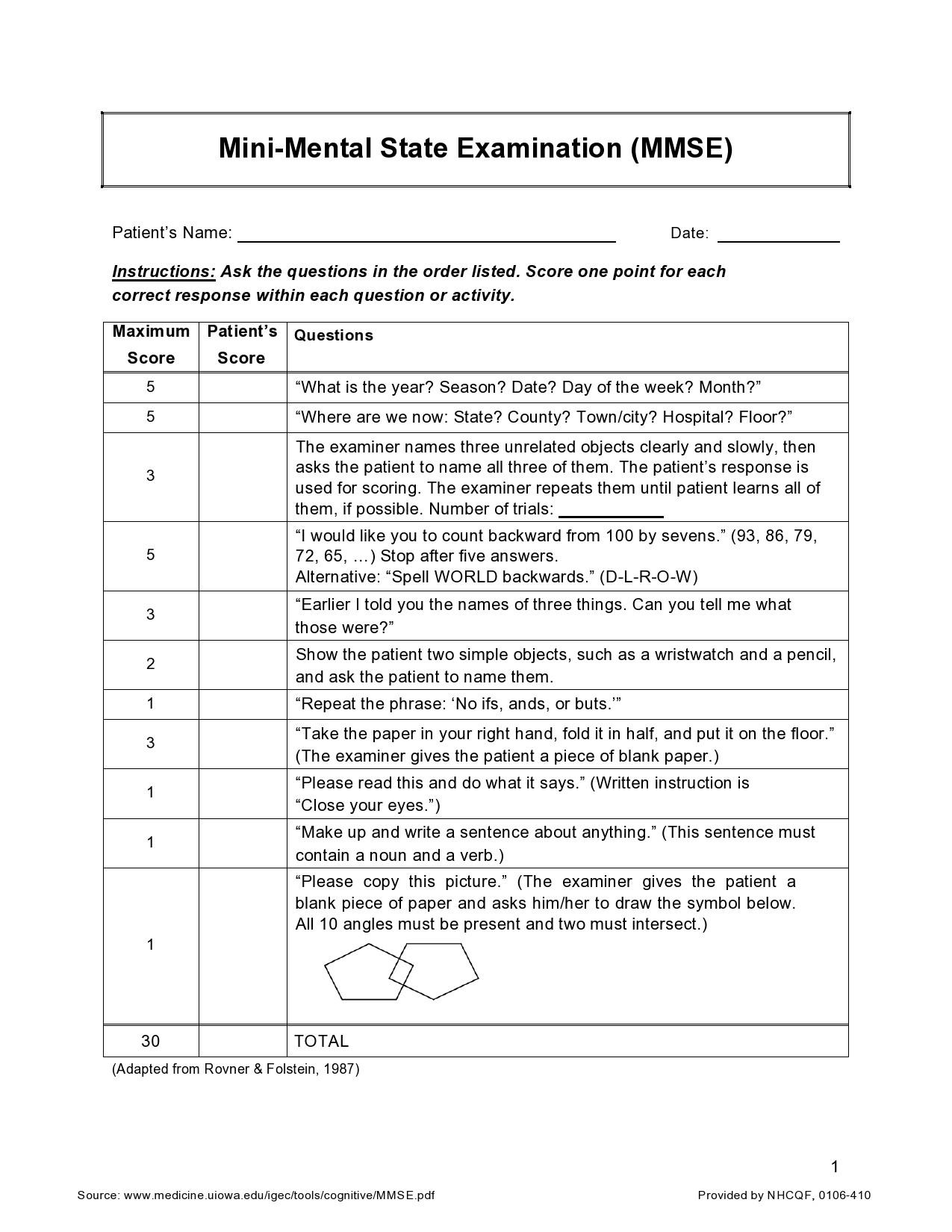 Free mental status exam template 40