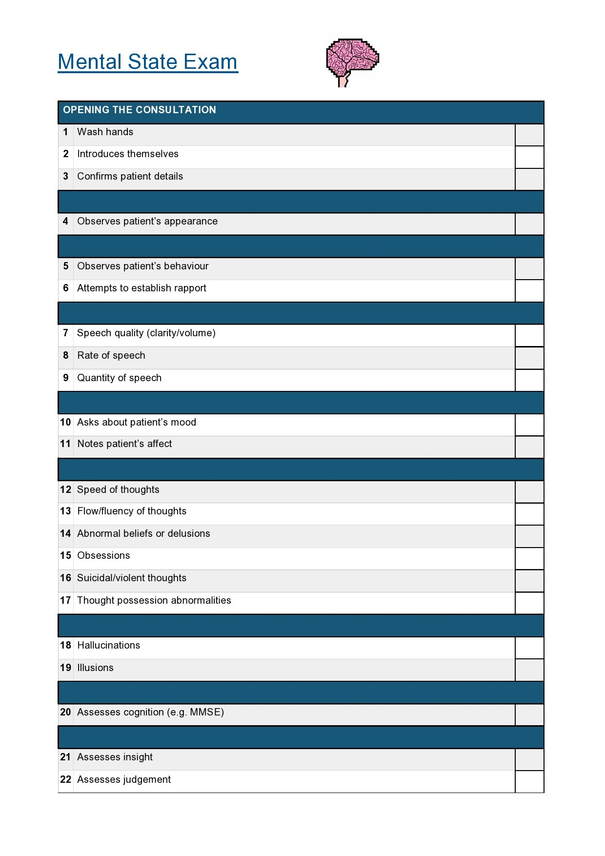 Free mental status exam template 47