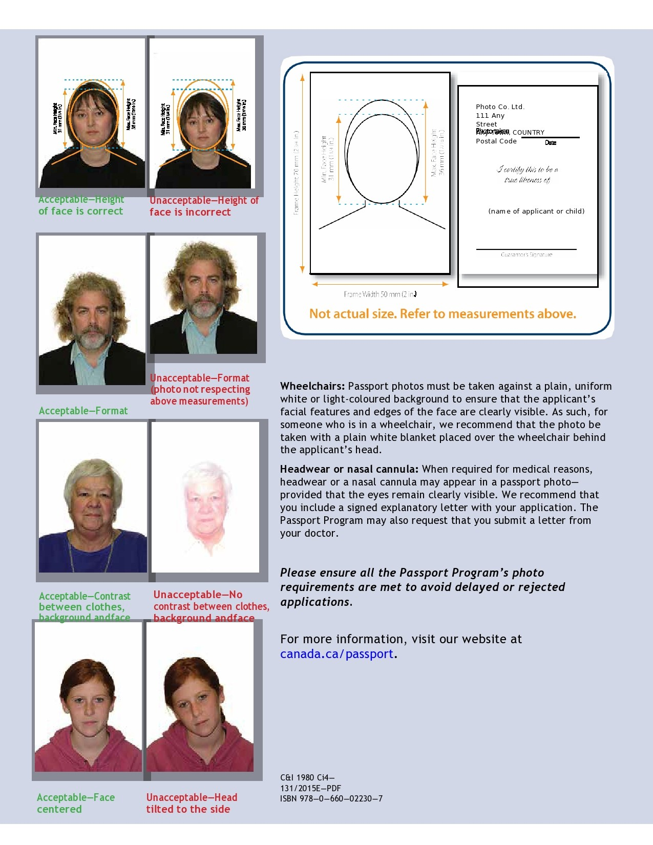 Passport Photo Templates