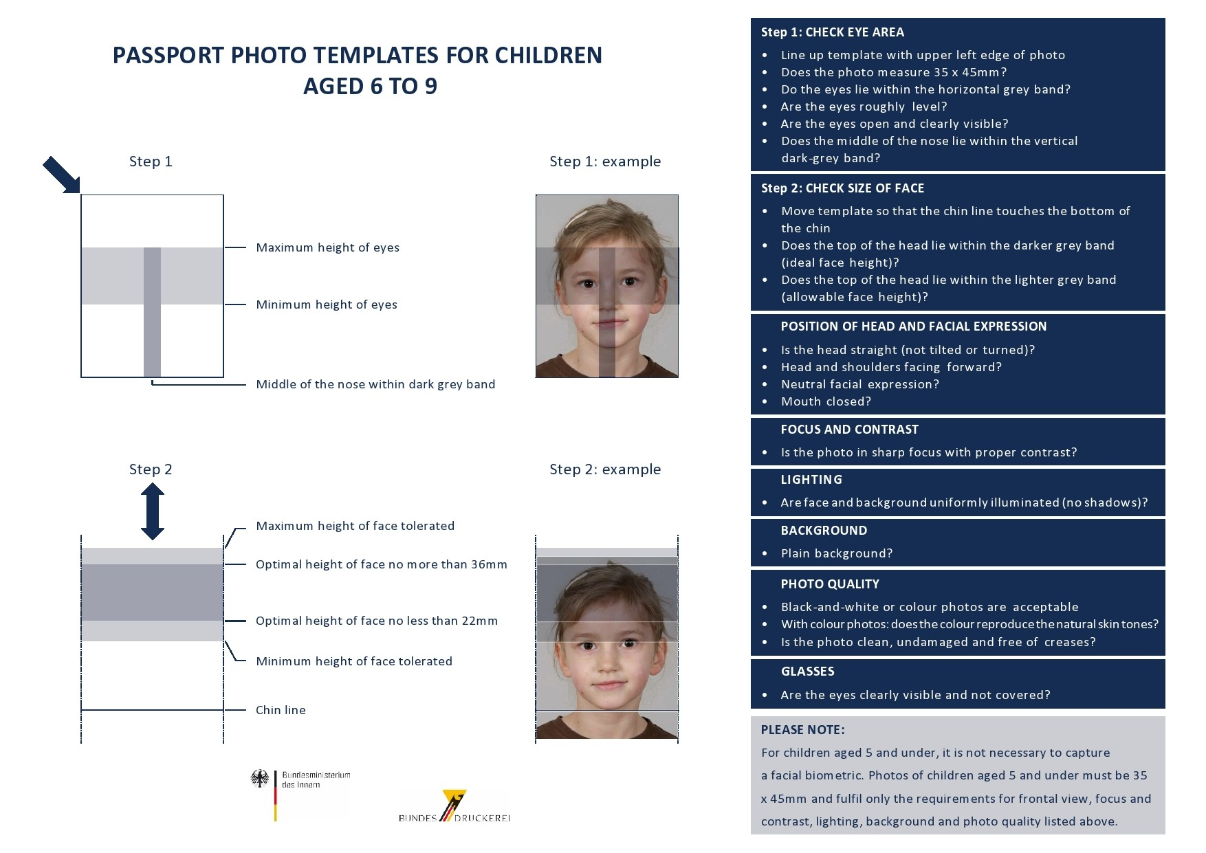 Free passport photo template 10